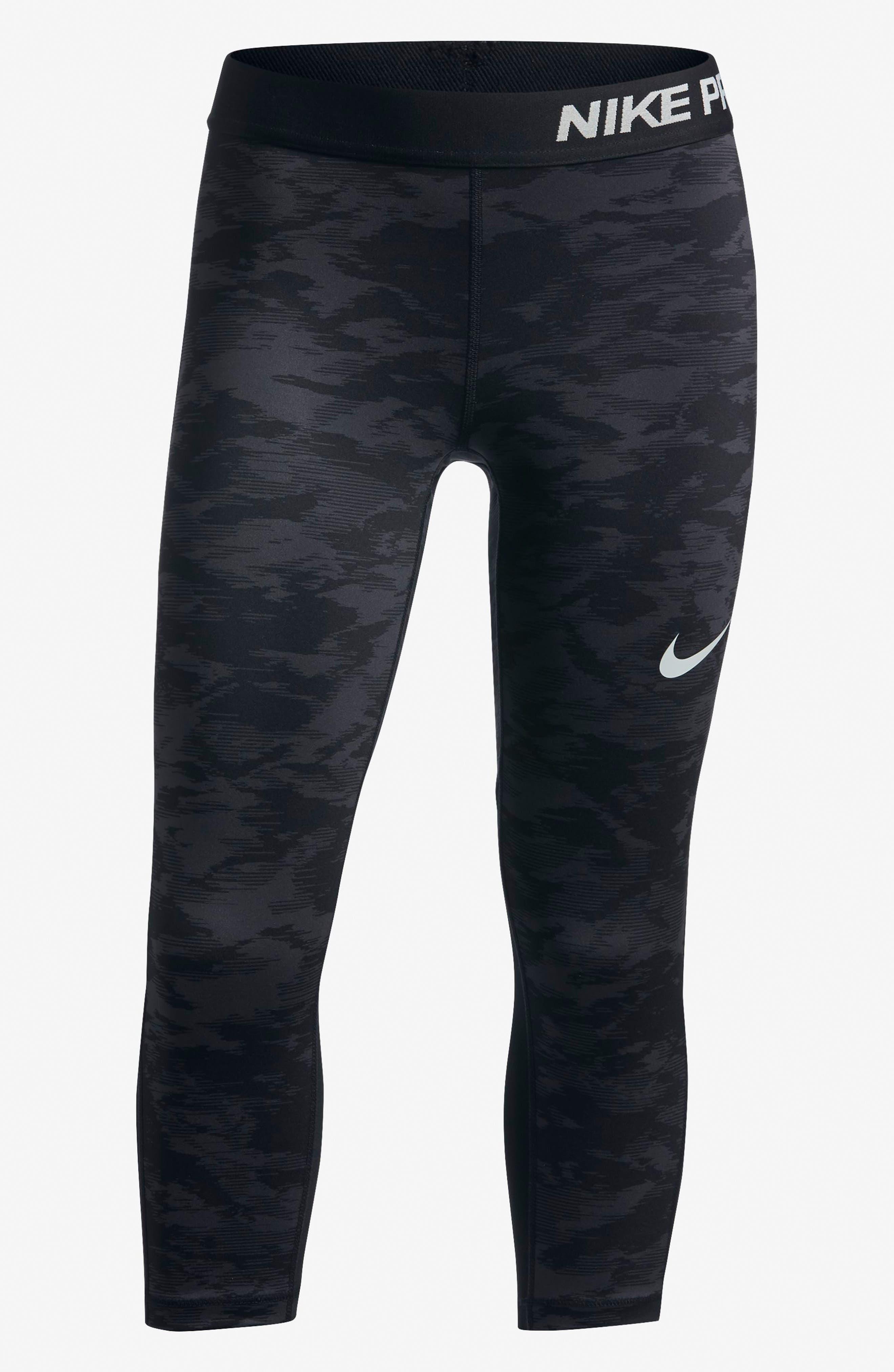 Alternate Image 6  - Nike Pro Cool Crop Leggings (Big Girls)