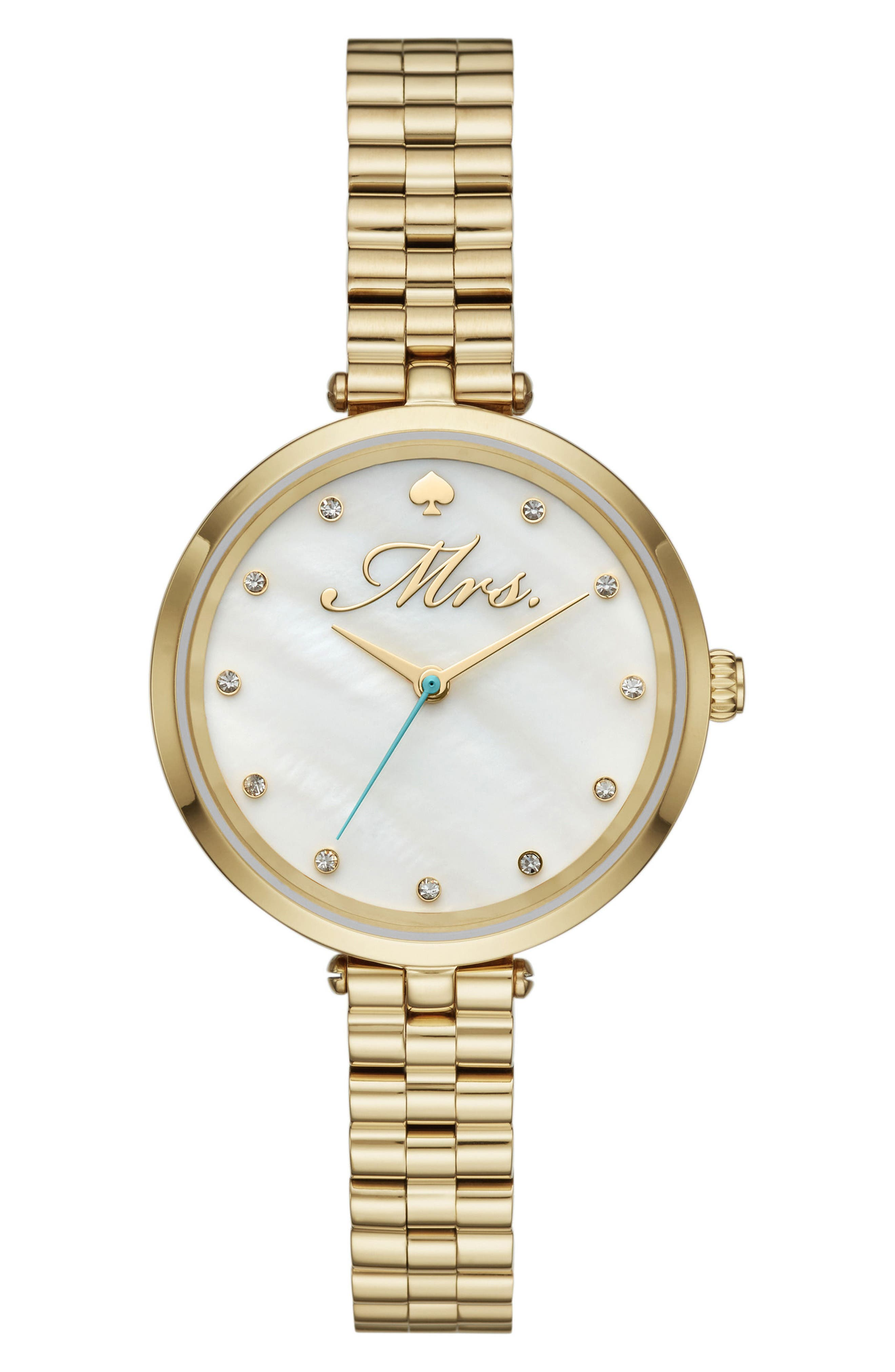 holland mrs. bracelet watch, 34mm,                         Main,                         color, Gold/ Mop/ Gold