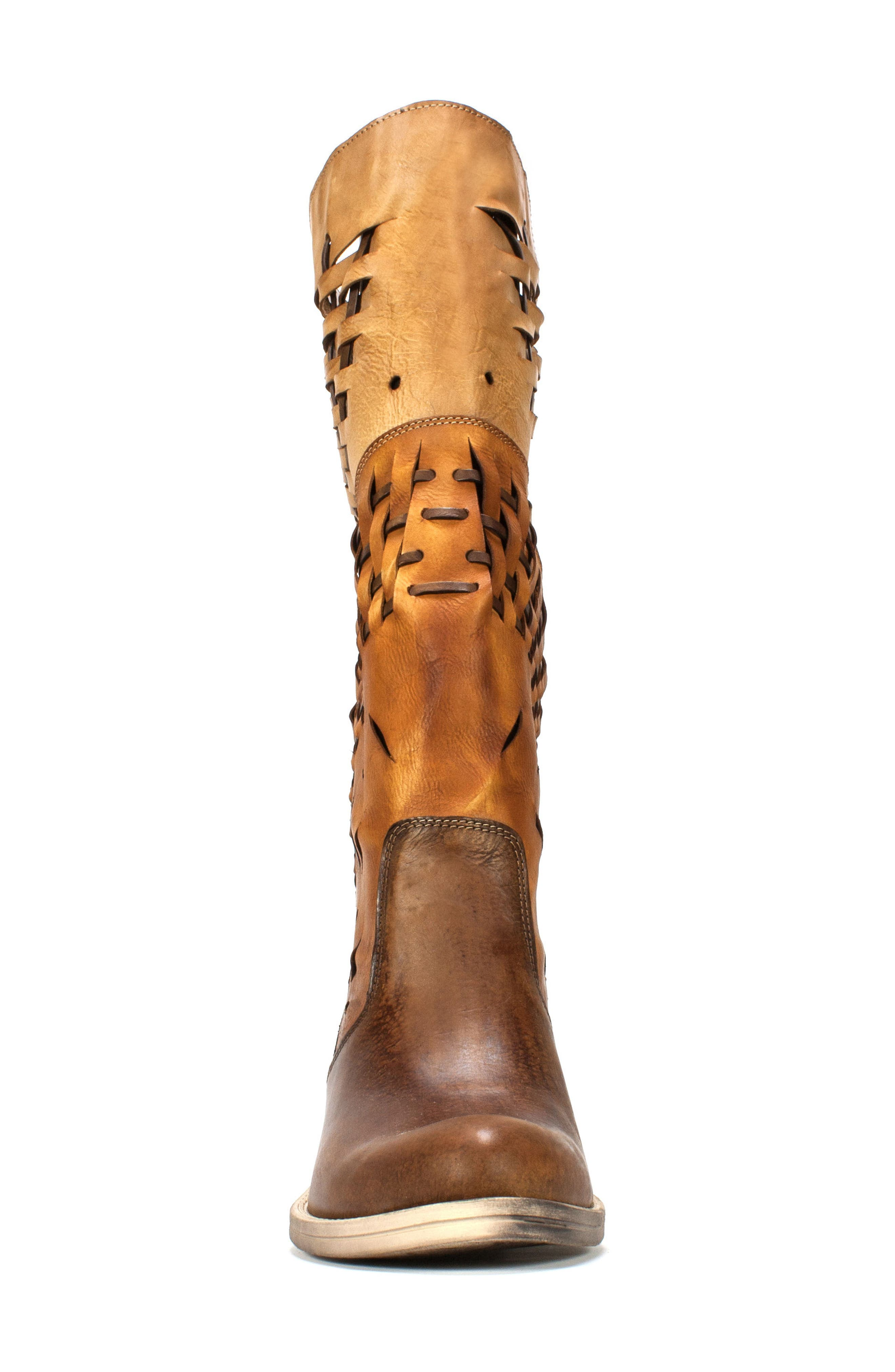 Tallie Western Boot,                             Alternate thumbnail 4, color,                             Tobacco Leather