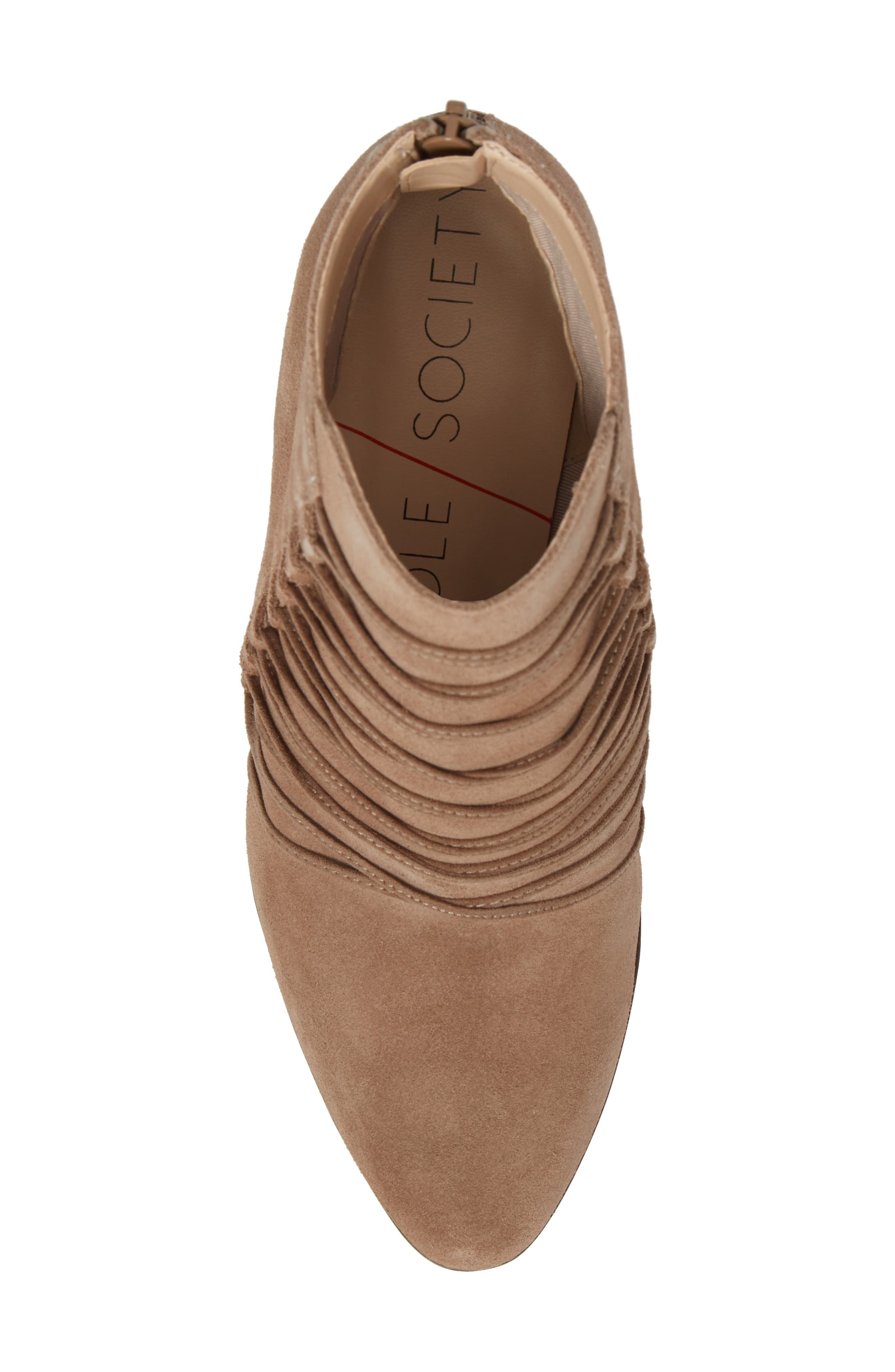 Bellevue Bootie,                             Alternate thumbnail 5, color,                             Night Taupe Suede