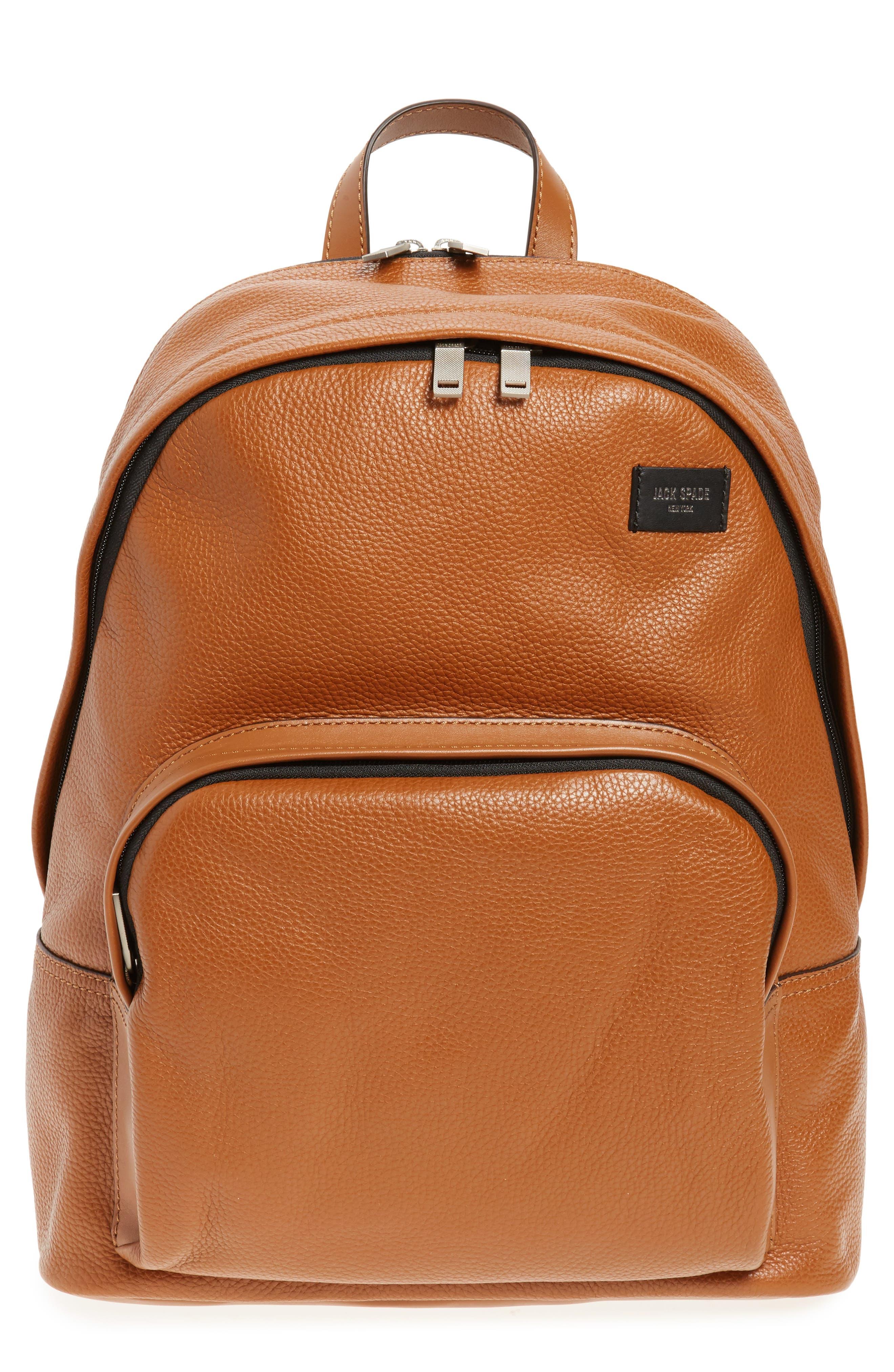 Main Image - Jack Spade Pebbled Leather Backpack