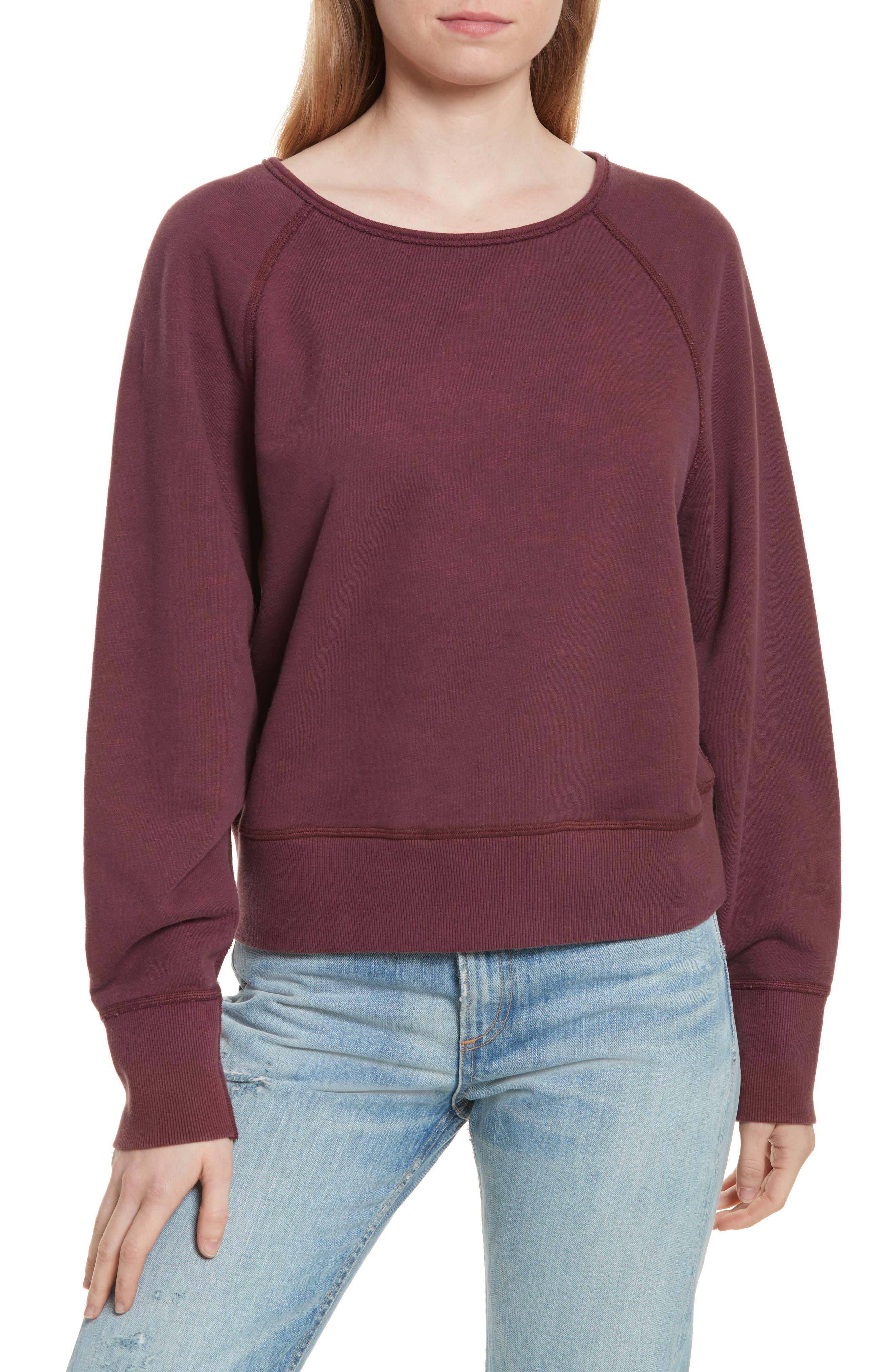 Classic Crop Pullover,                         Main,                         color, Port