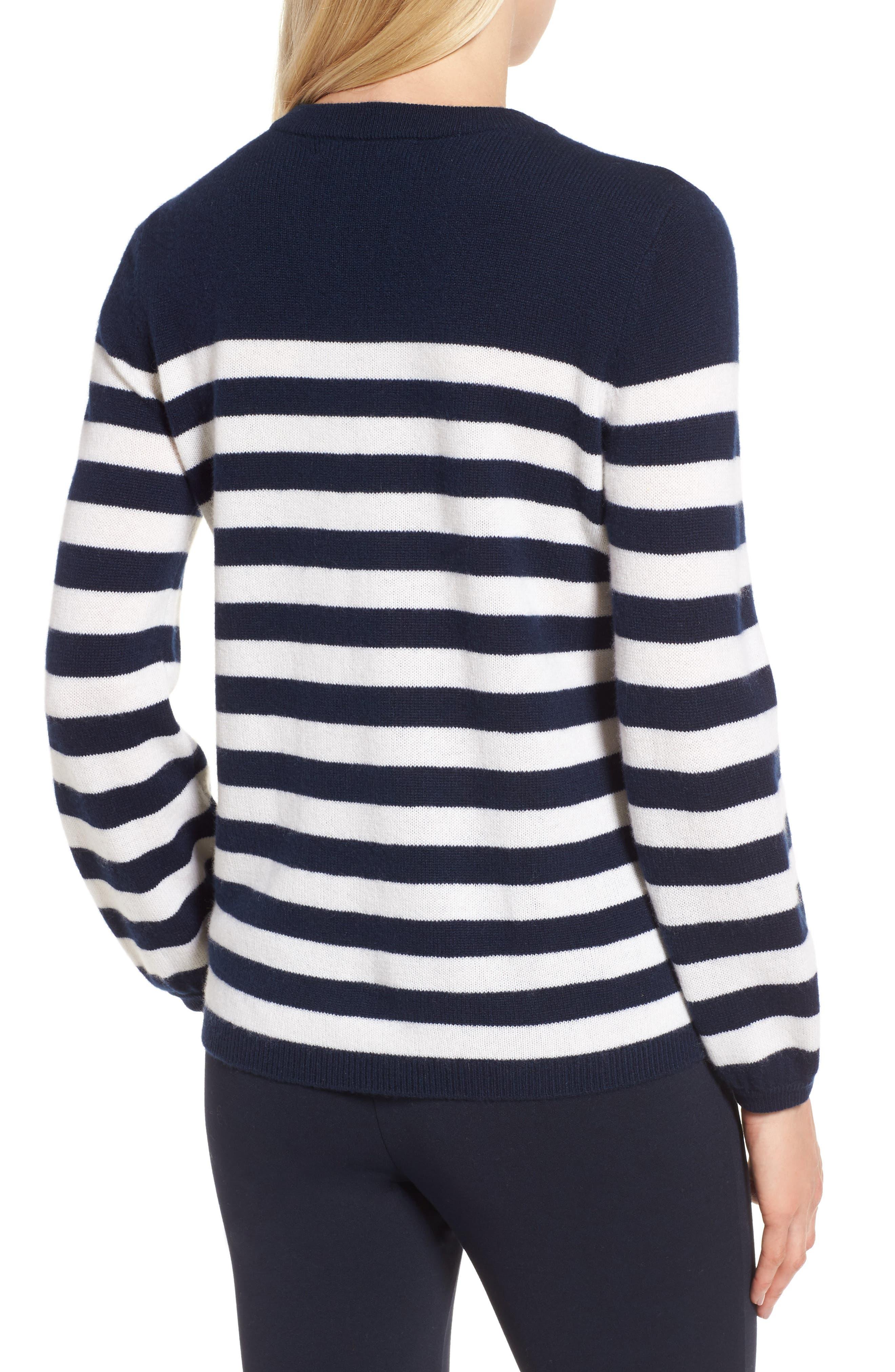Alternate Image 2  - Nordstrom Signature Stripe Cashmere Sweater
