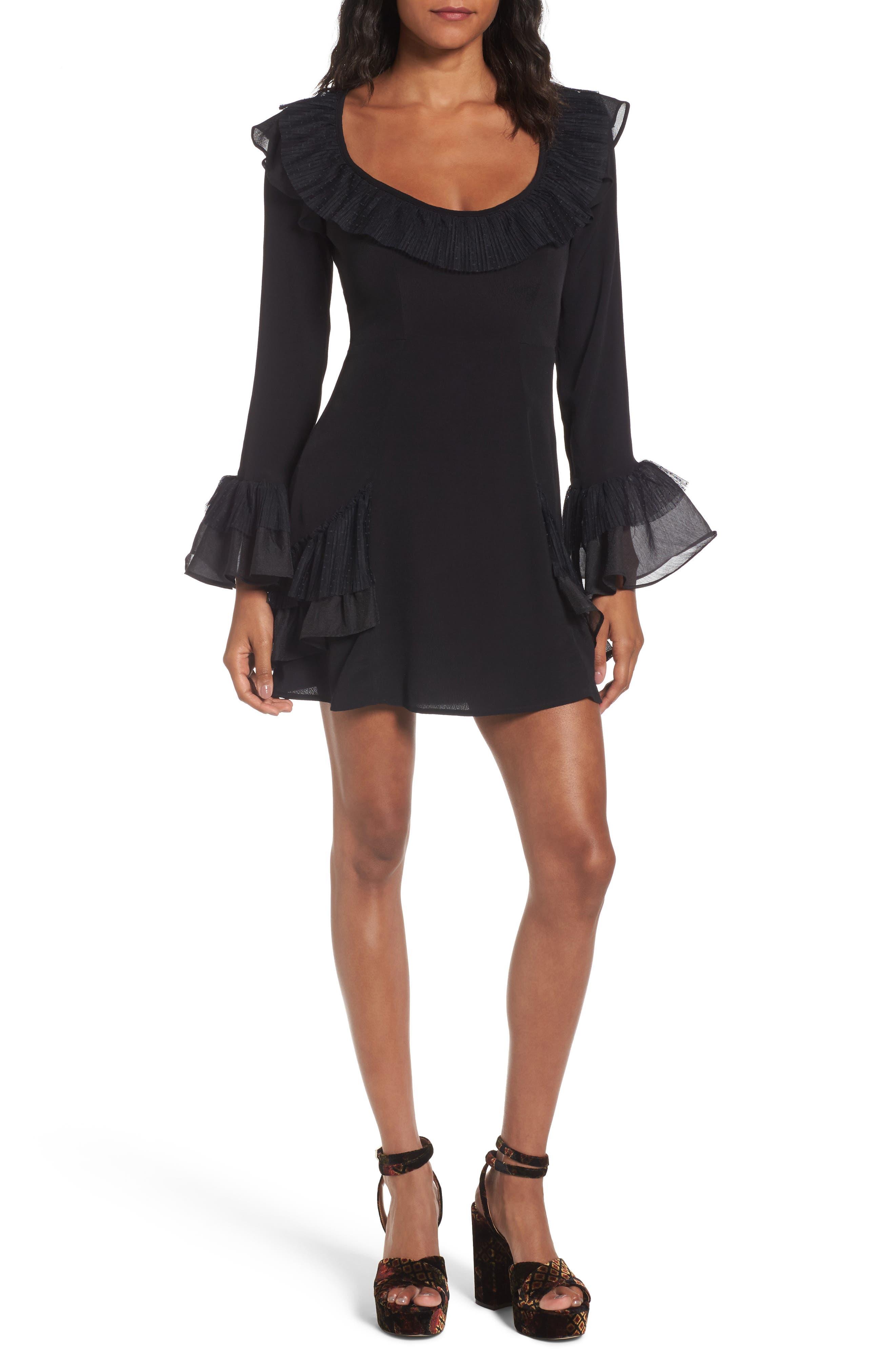 Evie Minidress,                             Main thumbnail 1, color,                             Black