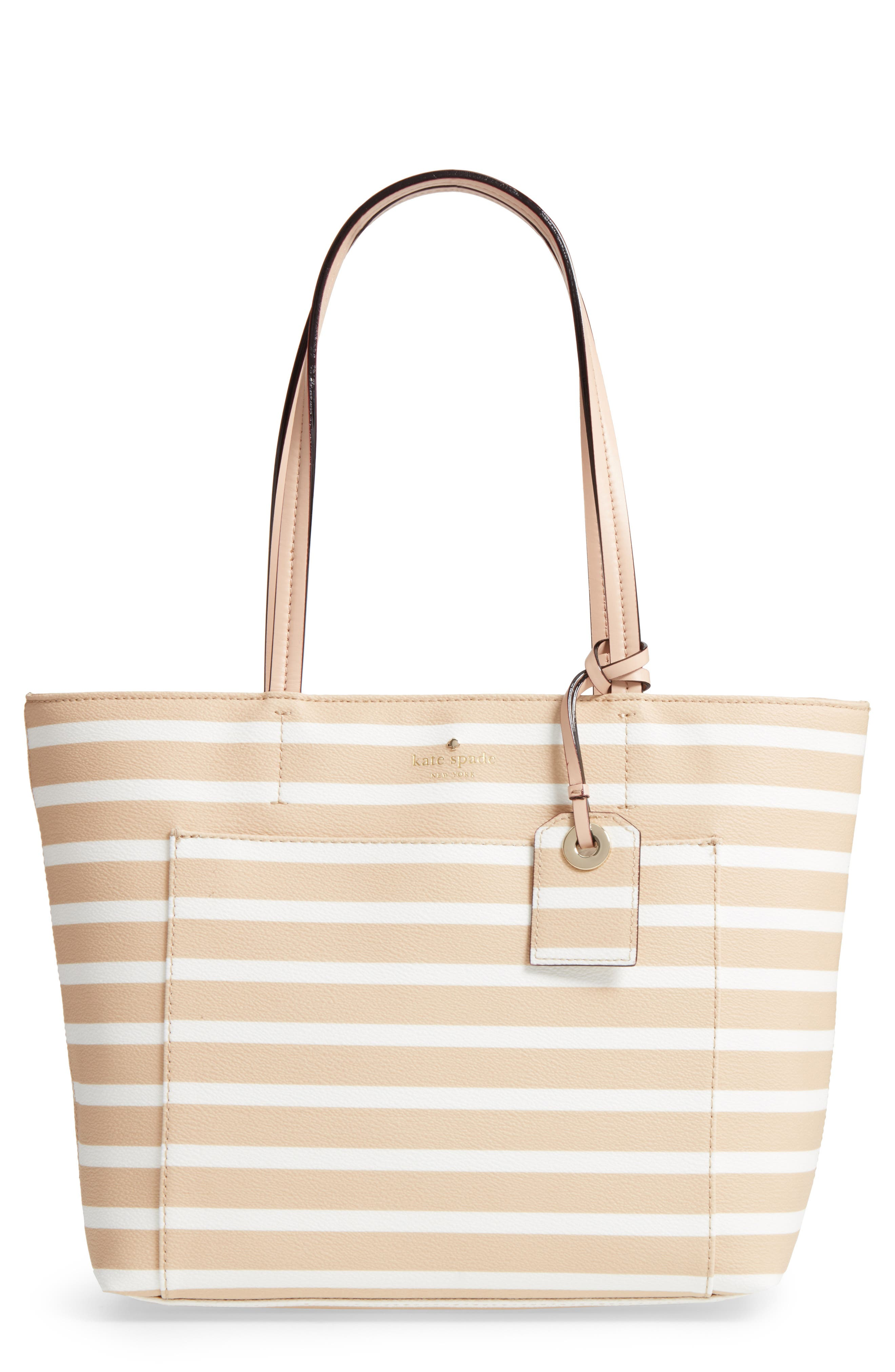 hyde lane - small riley faux leather tote,                             Main thumbnail 1, color,                             Classic Camel/ Cream