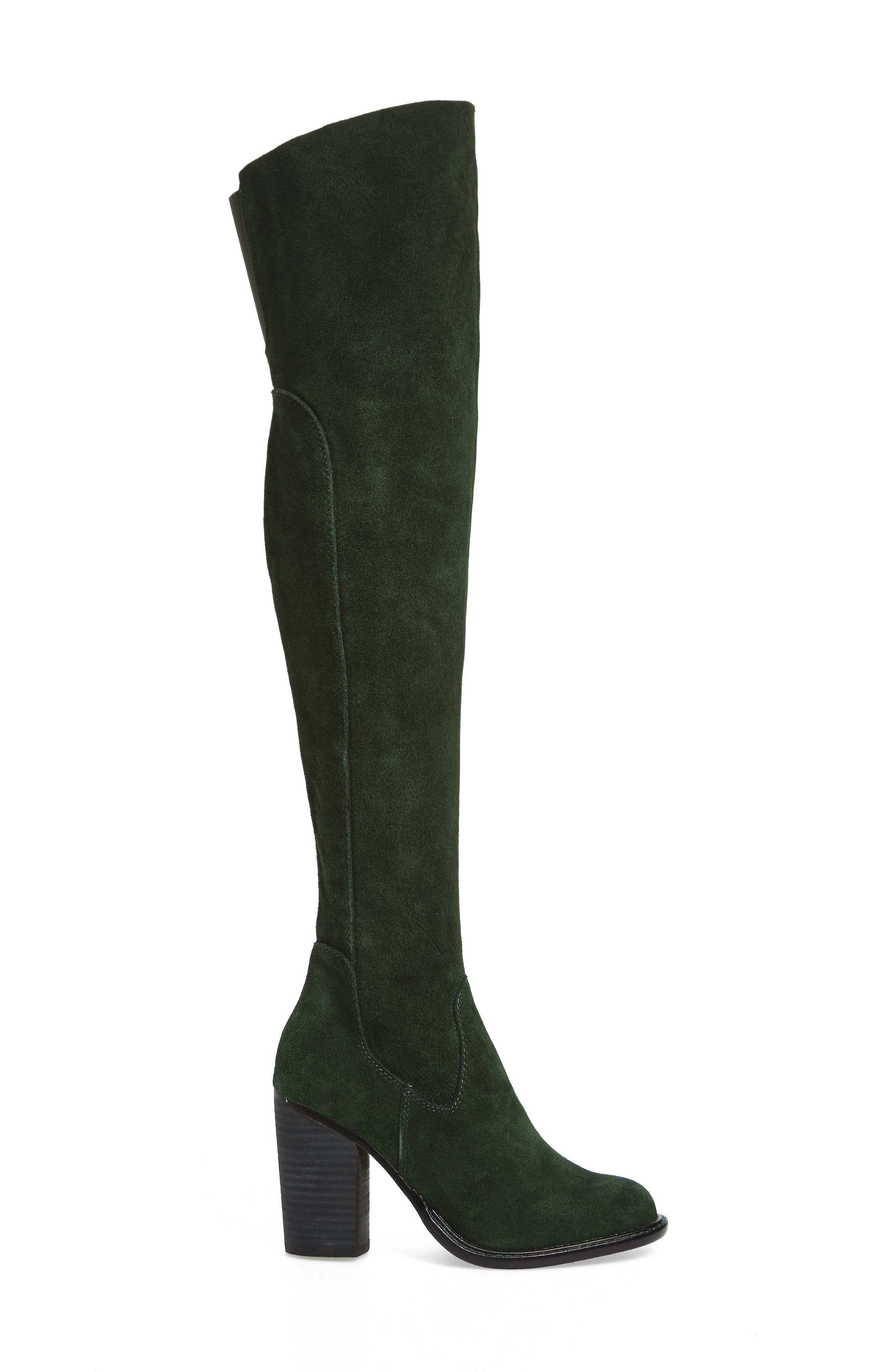 Logan Over the Knee Boot,                             Alternate thumbnail 3, color,                             Forest