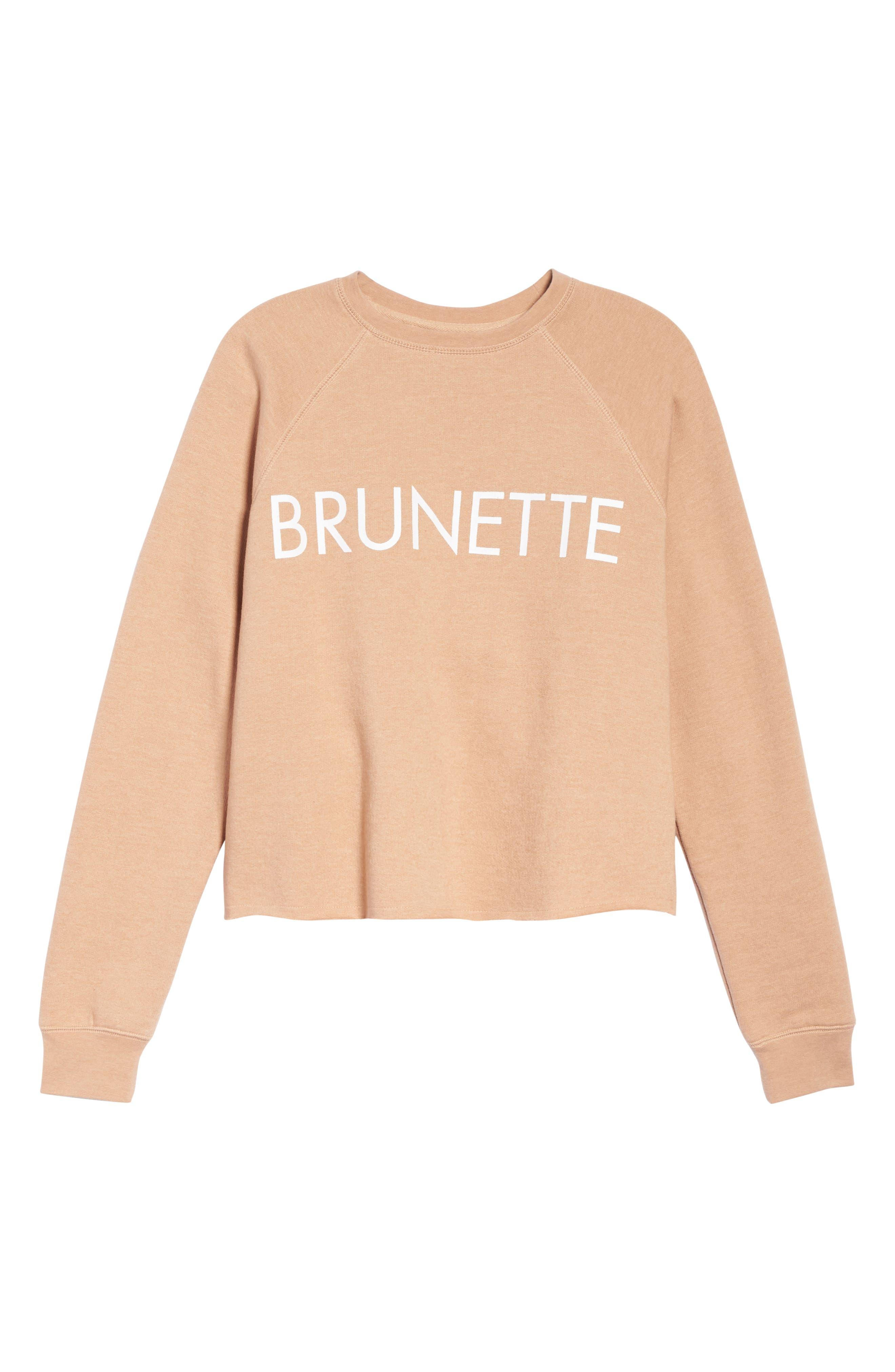 Middle Sister Brunette Sweatshirt,                             Alternate thumbnail 4, color,                             Rose