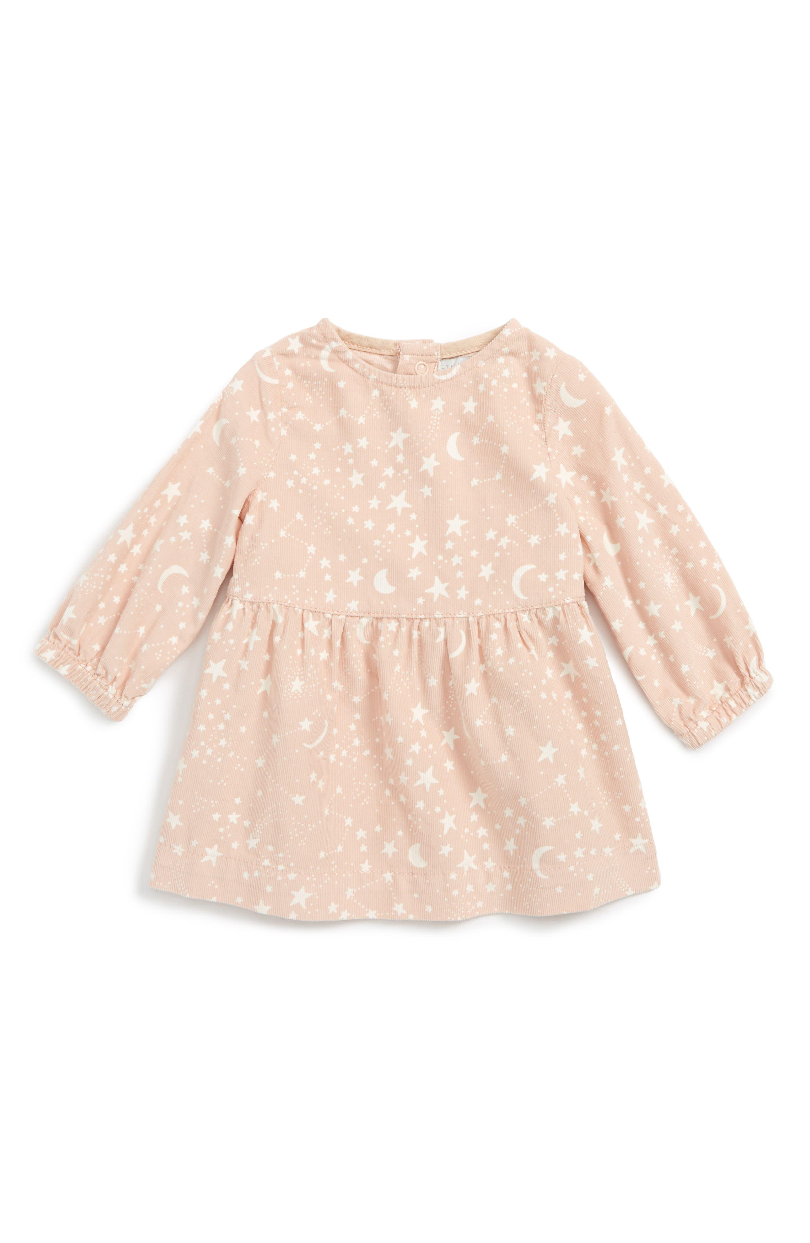 Skippy Star Print Dress,                             Main thumbnail 1, color,                             Pink