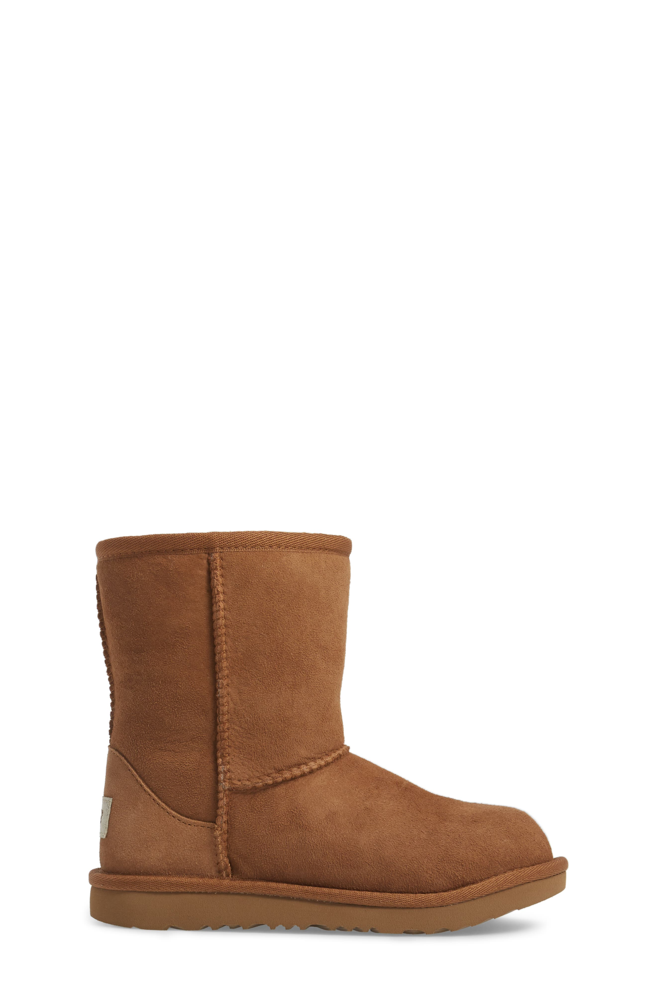 Classic II Water Resistant Genuine Shearling Boot,                             Alternate thumbnail 3, color,                             Chestnut Brown