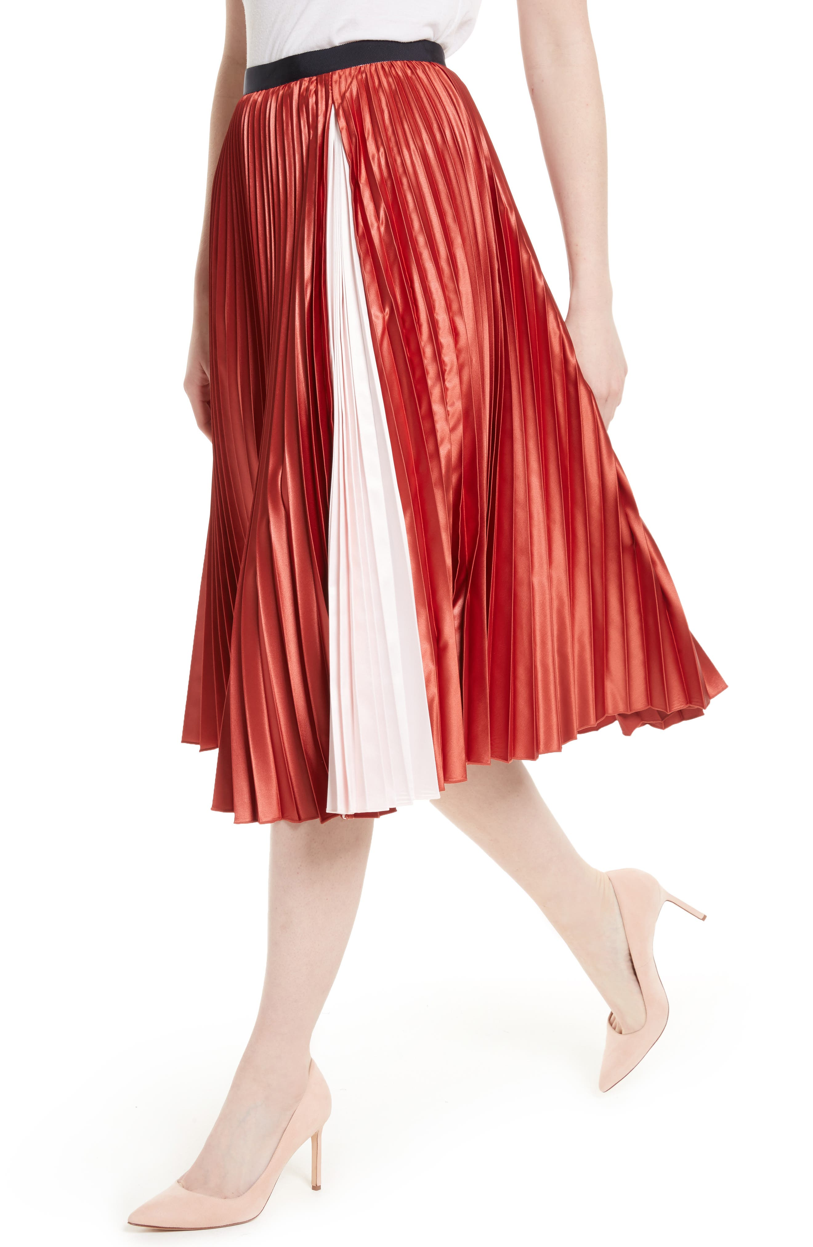 Alternate Image 4  - Ted Baker London Osla Colorblock Pleated Midi Skirt