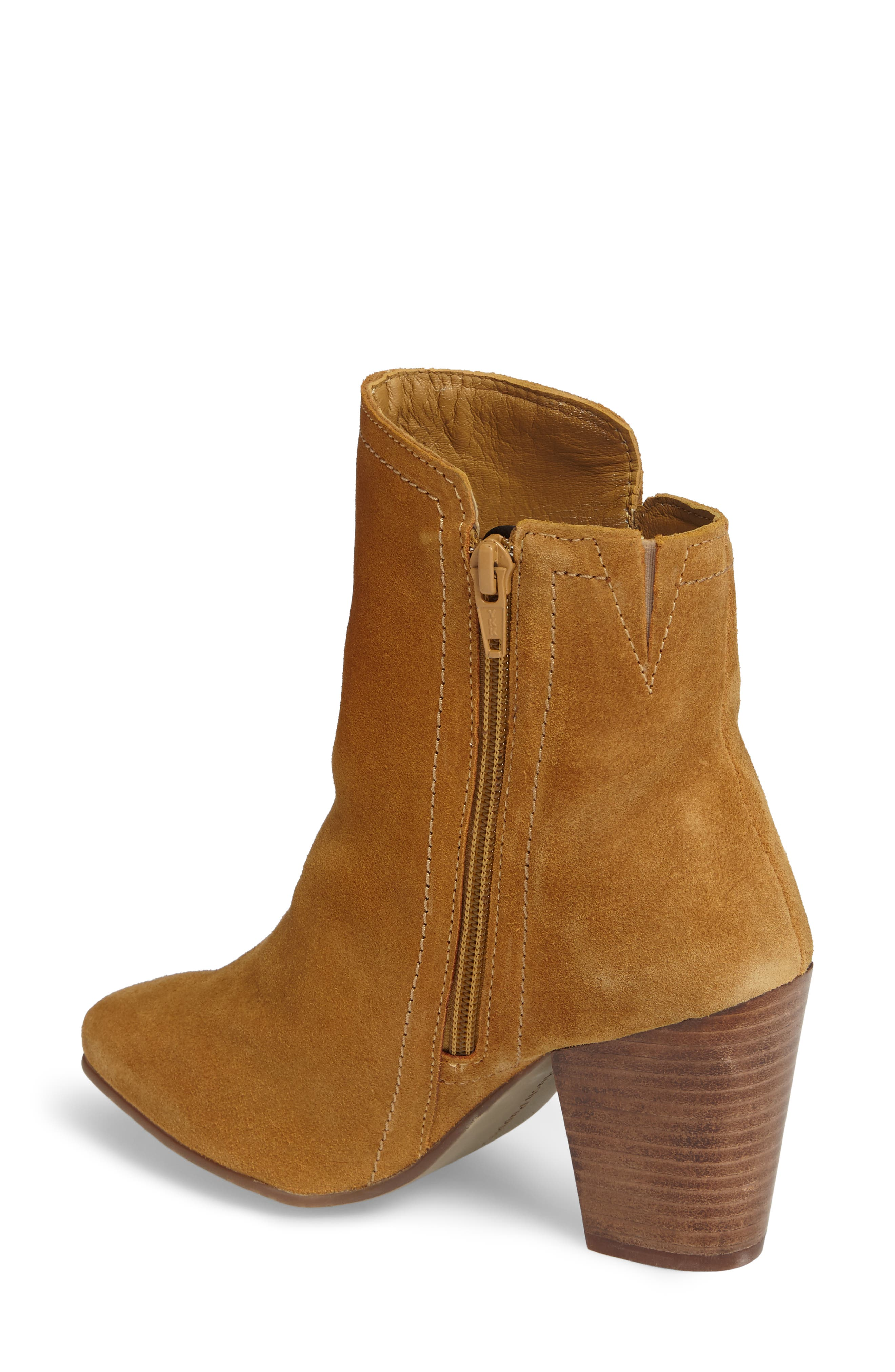 Daisee Billie Bootie,                             Alternate thumbnail 2, color,                             Camel Suede