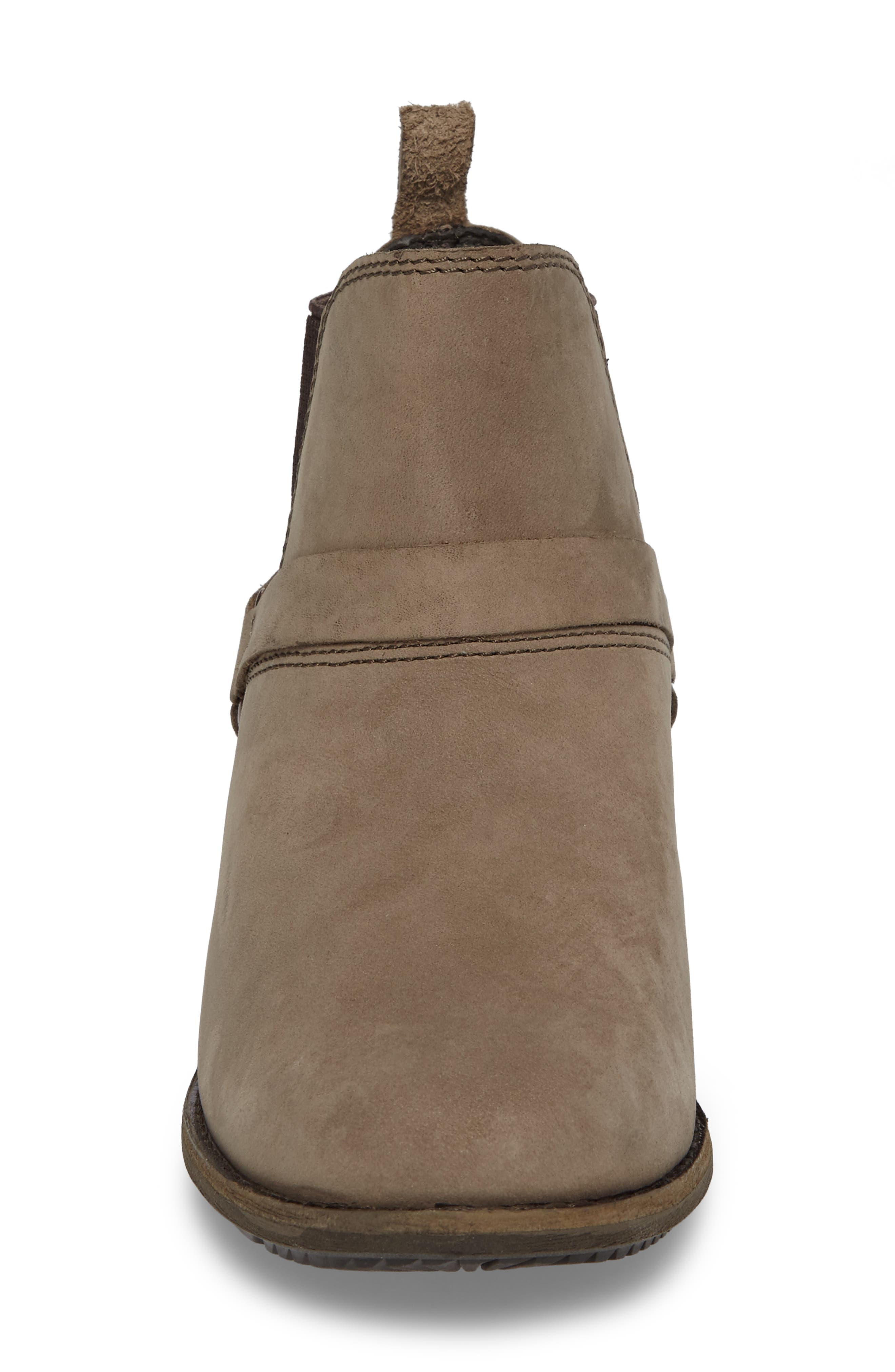 Dina La Vina Dos Waterproof Chelsea Boot,                             Alternate thumbnail 4, color,                             Bungee Cord Leather