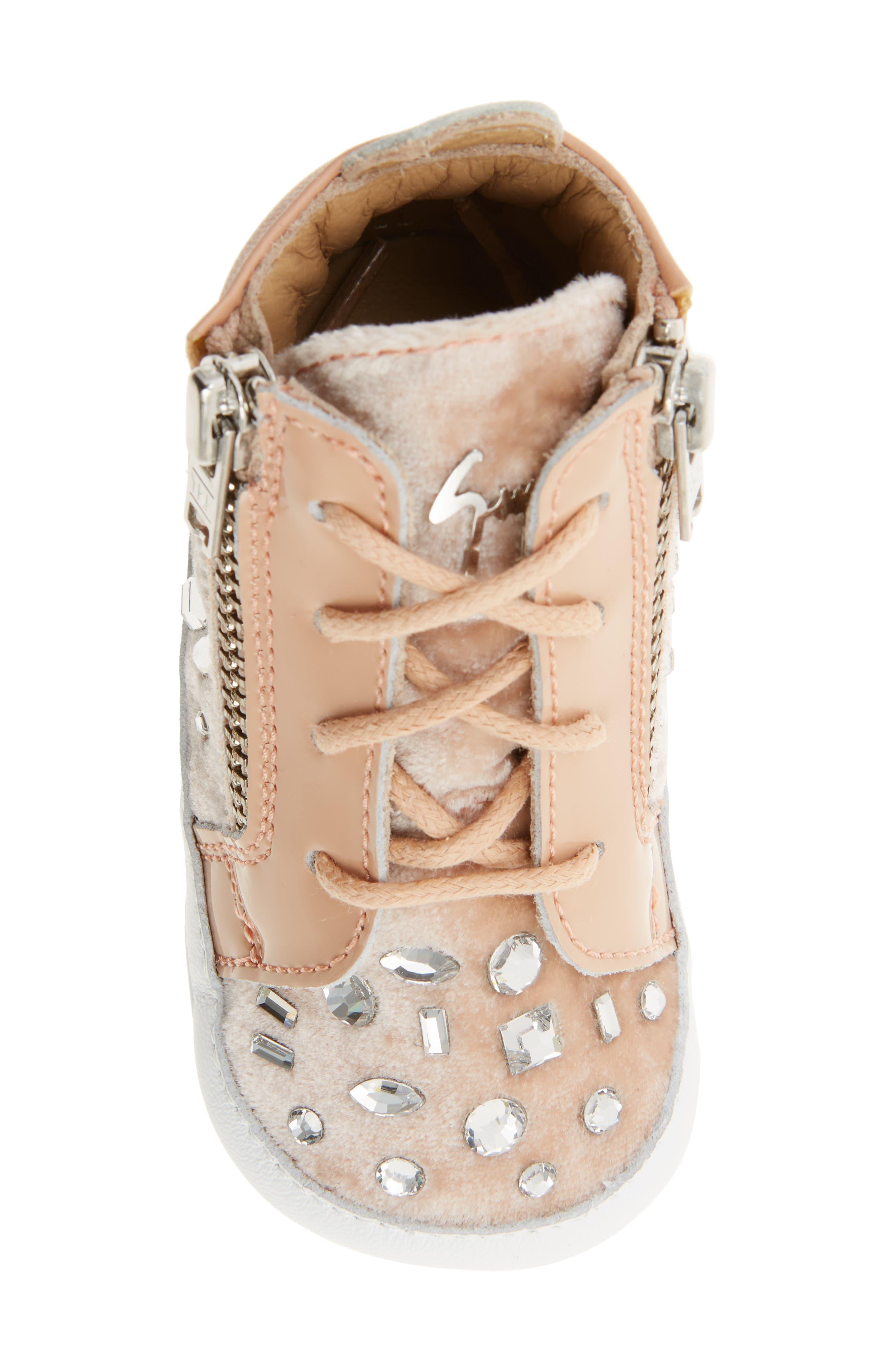 Alternate Image 5  - Giuseppe Zanotti Veronica Embellished Sneaker (Baby, Walker, Toddler & Little Kid)