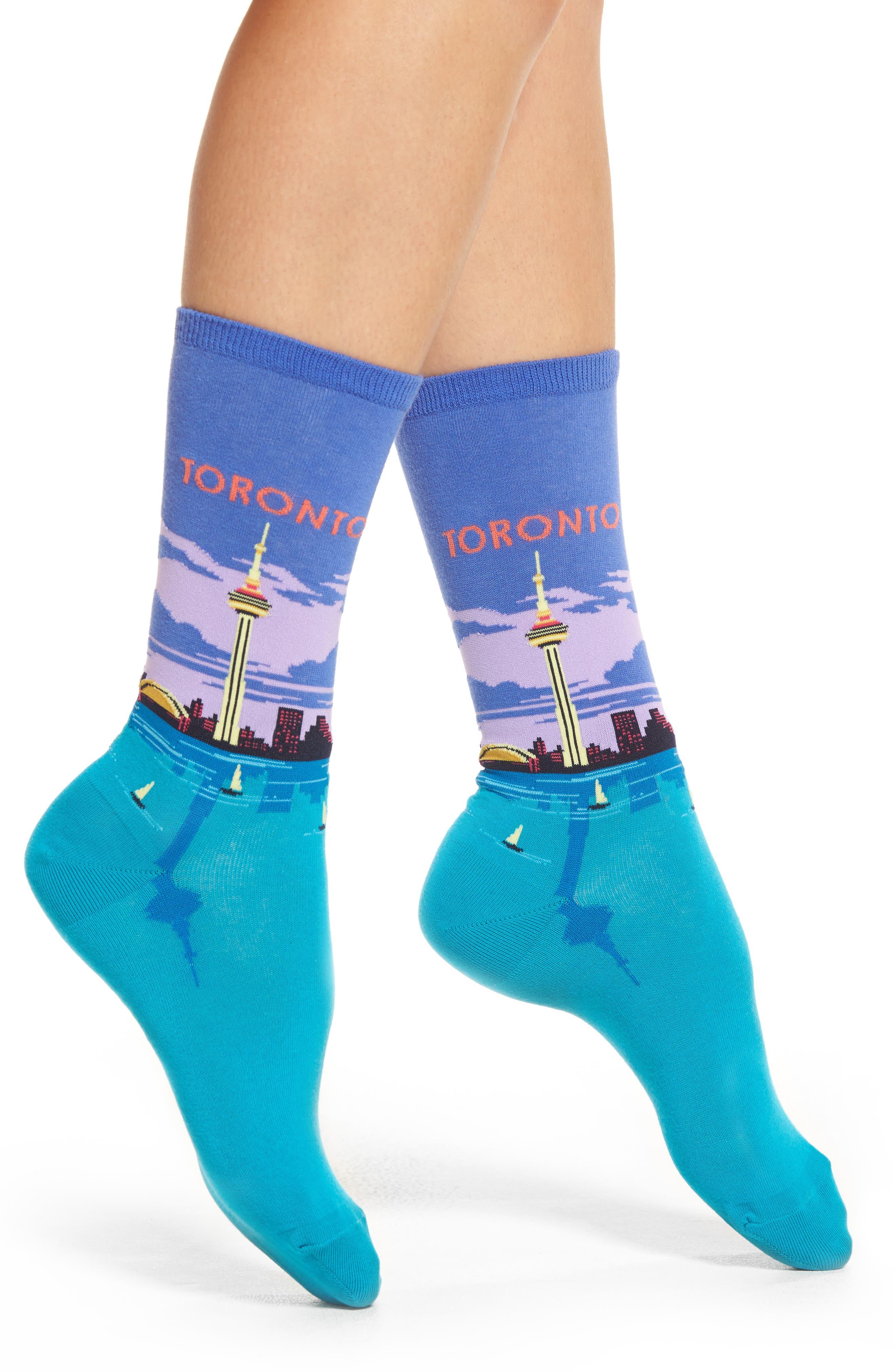 Toronto Crew Socks,                             Main thumbnail 1, color,                             Blue