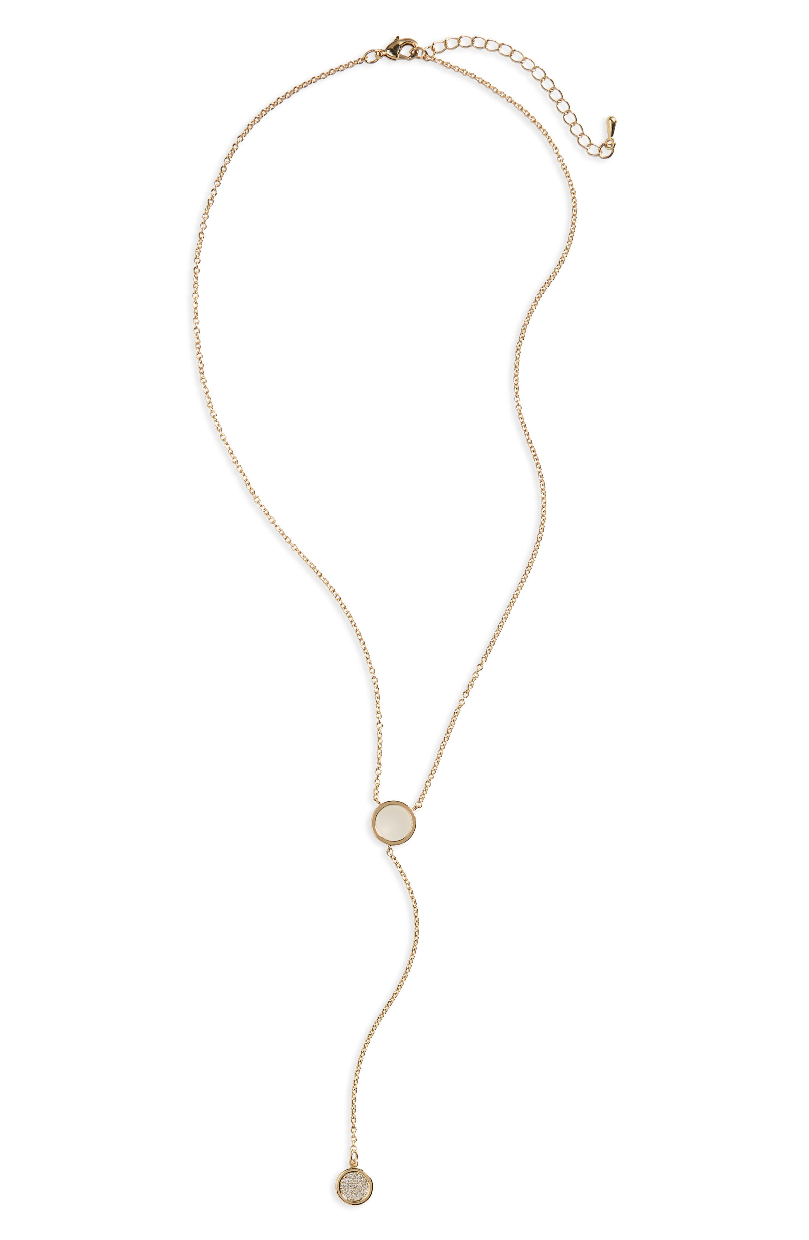 BP. Crystal Y-Necklace
