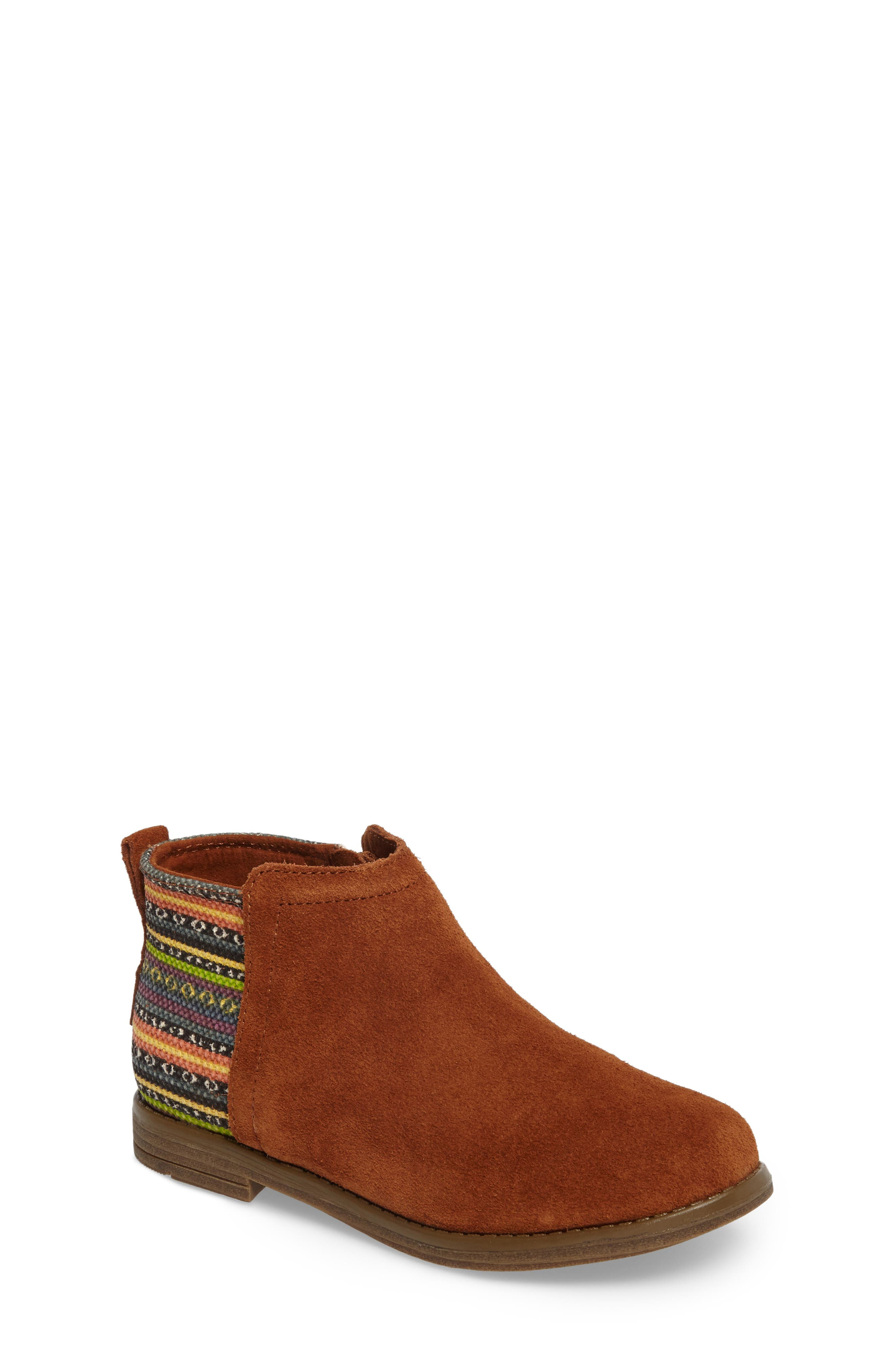 Deia Mixed Media Bootie,                         Main,                         color, Cinnamon Suede