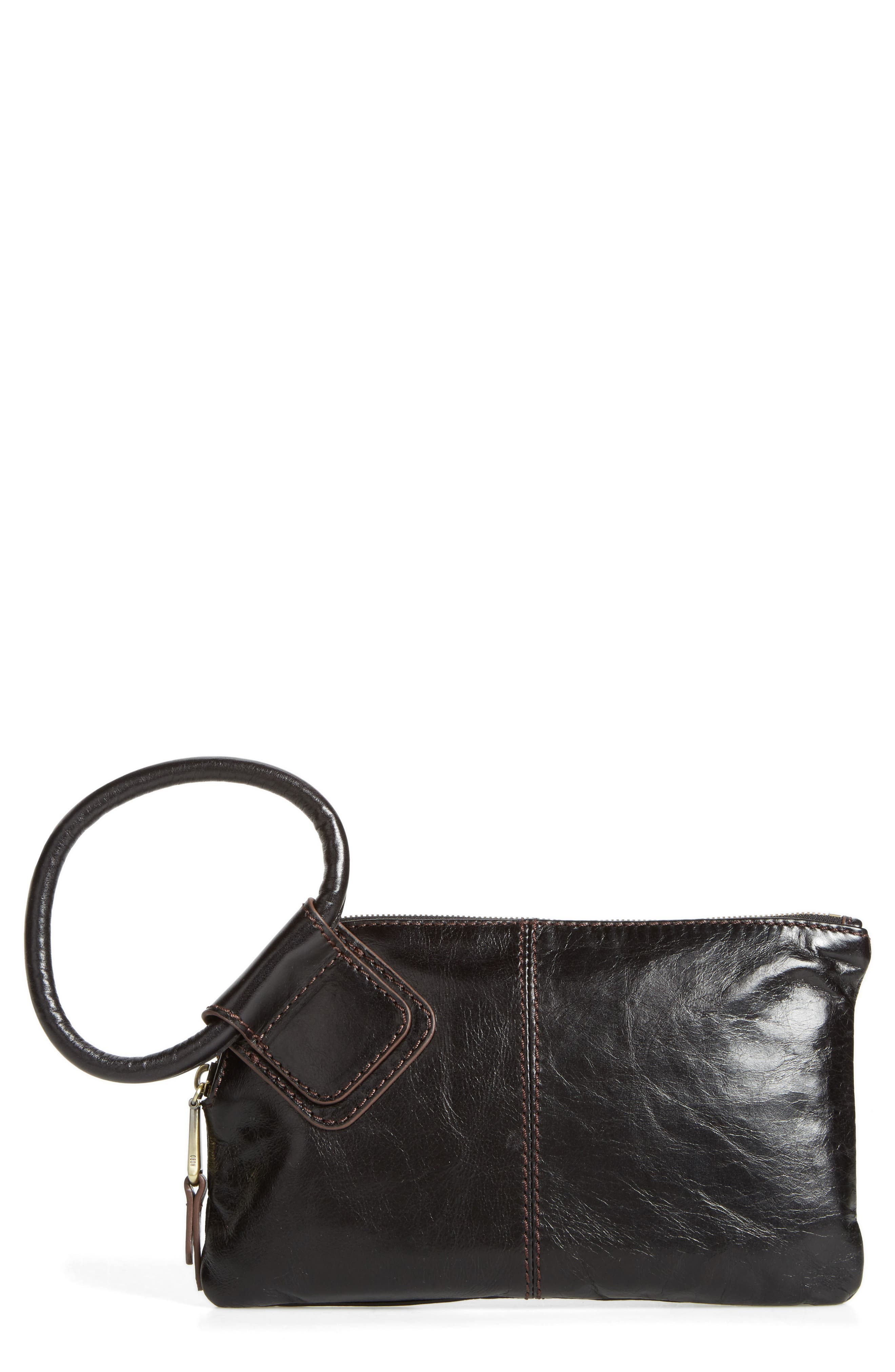 Hobo Sable Calfskin Leather Clutch