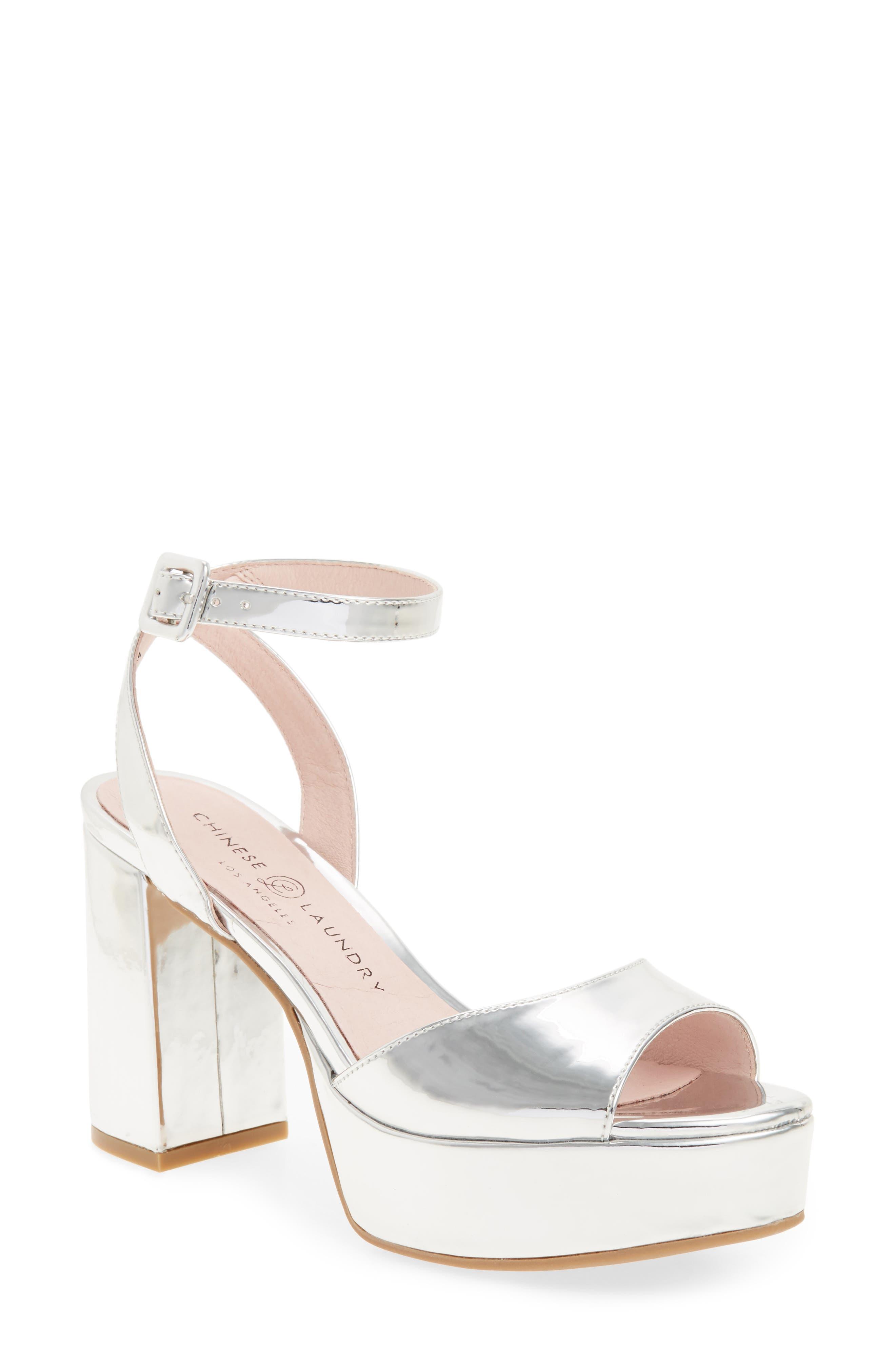 Chinese Laundry Theresa Metallic Platform Sandal (Women)
