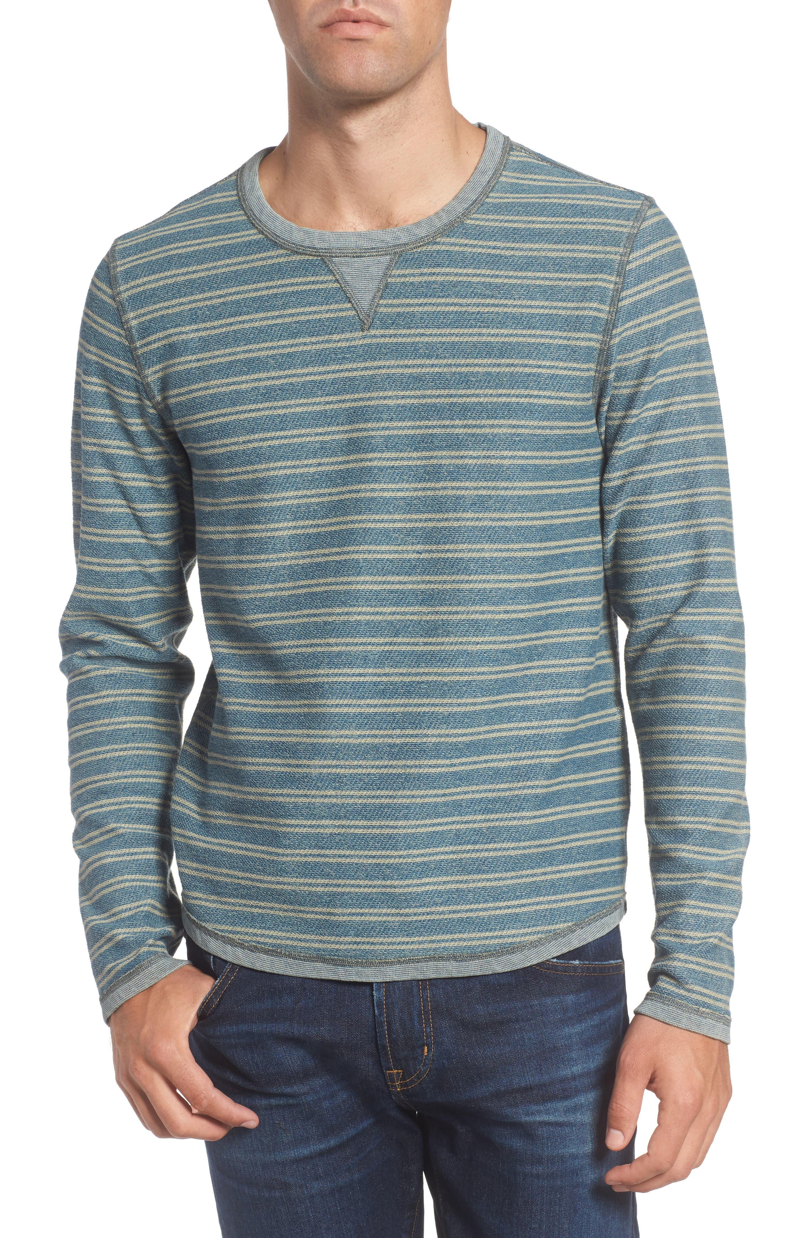 Strickland Reversible Crewneck Sweatshirt,                         Main,                         color, Aspen Heather 2