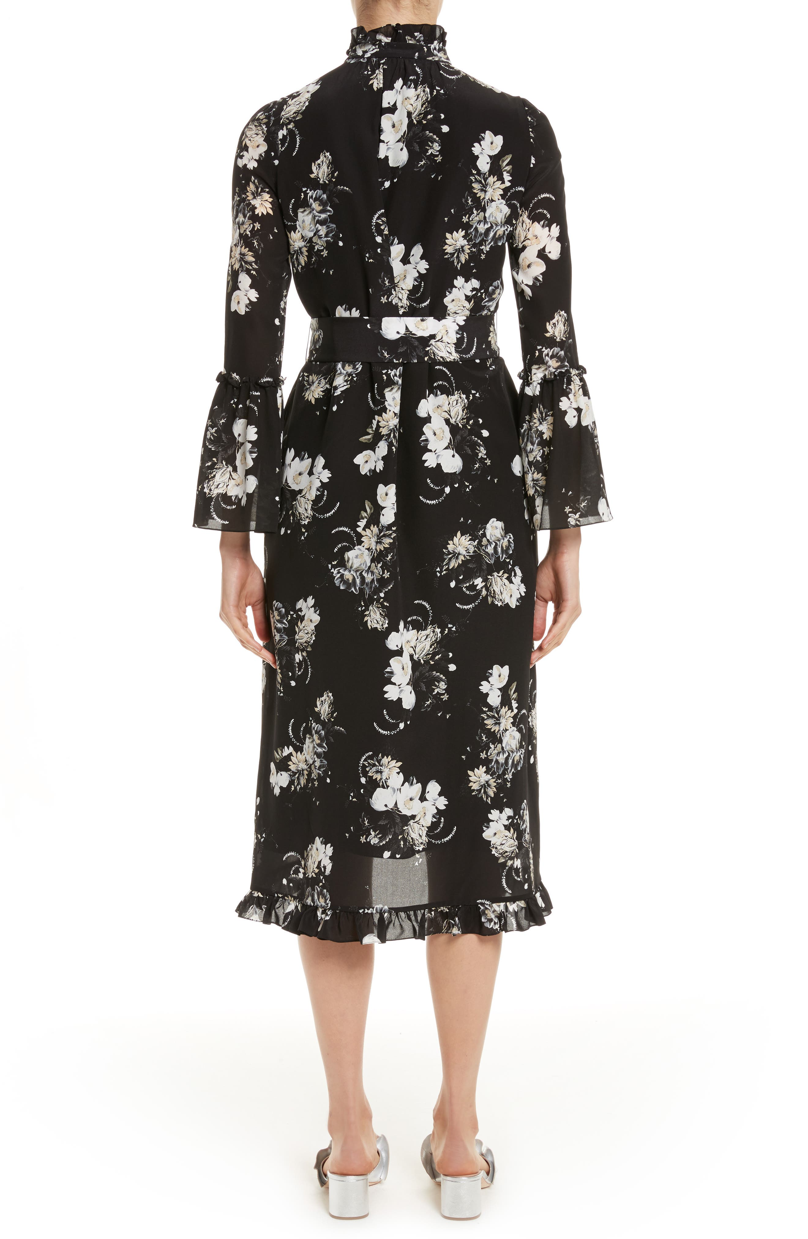 Alternate Image 2  - Erdem Floral Silk Ruffle Dress