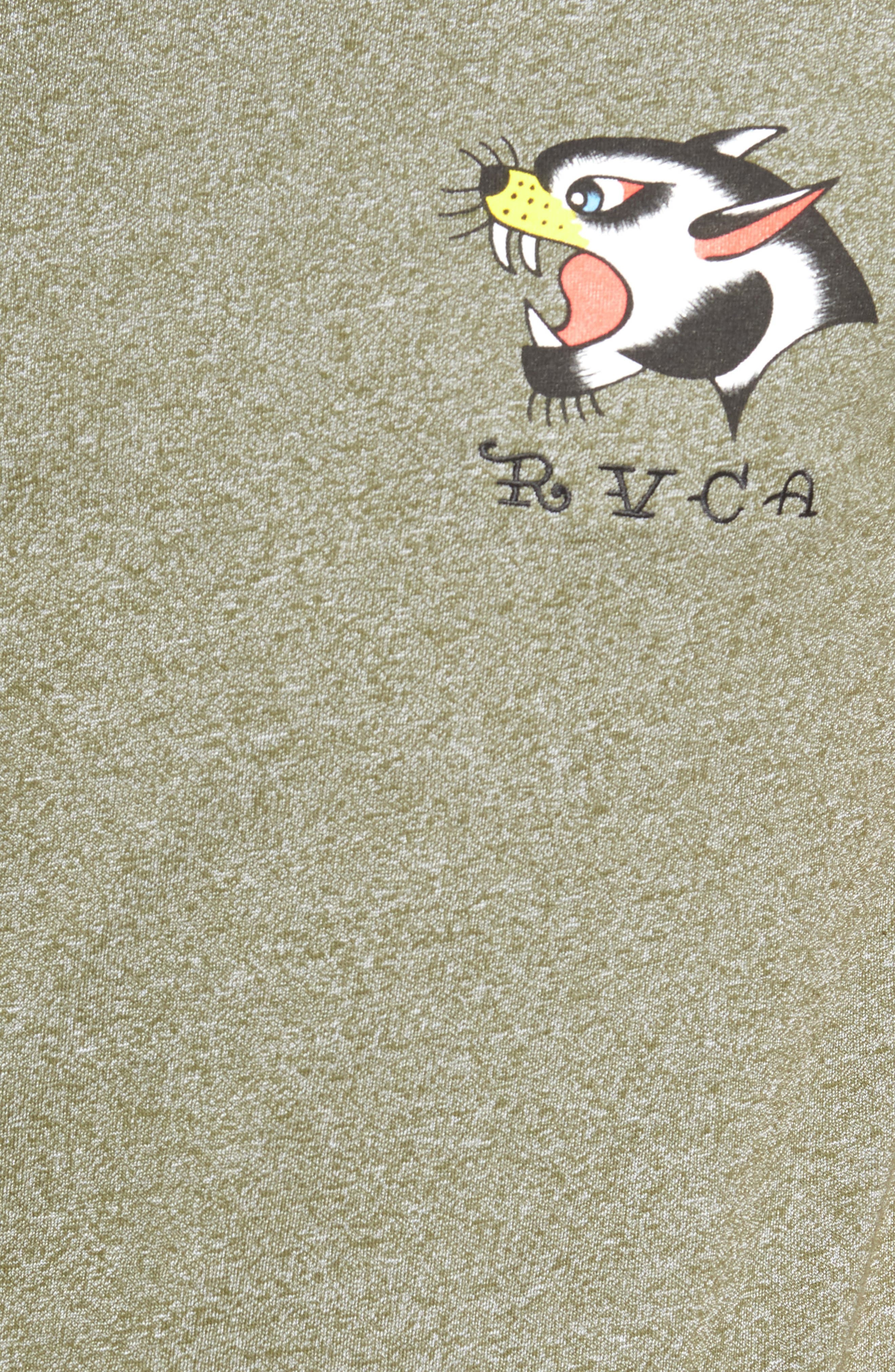 Panther Graphic T-Shirt,                             Alternate thumbnail 5, color,                             Burnt Olive