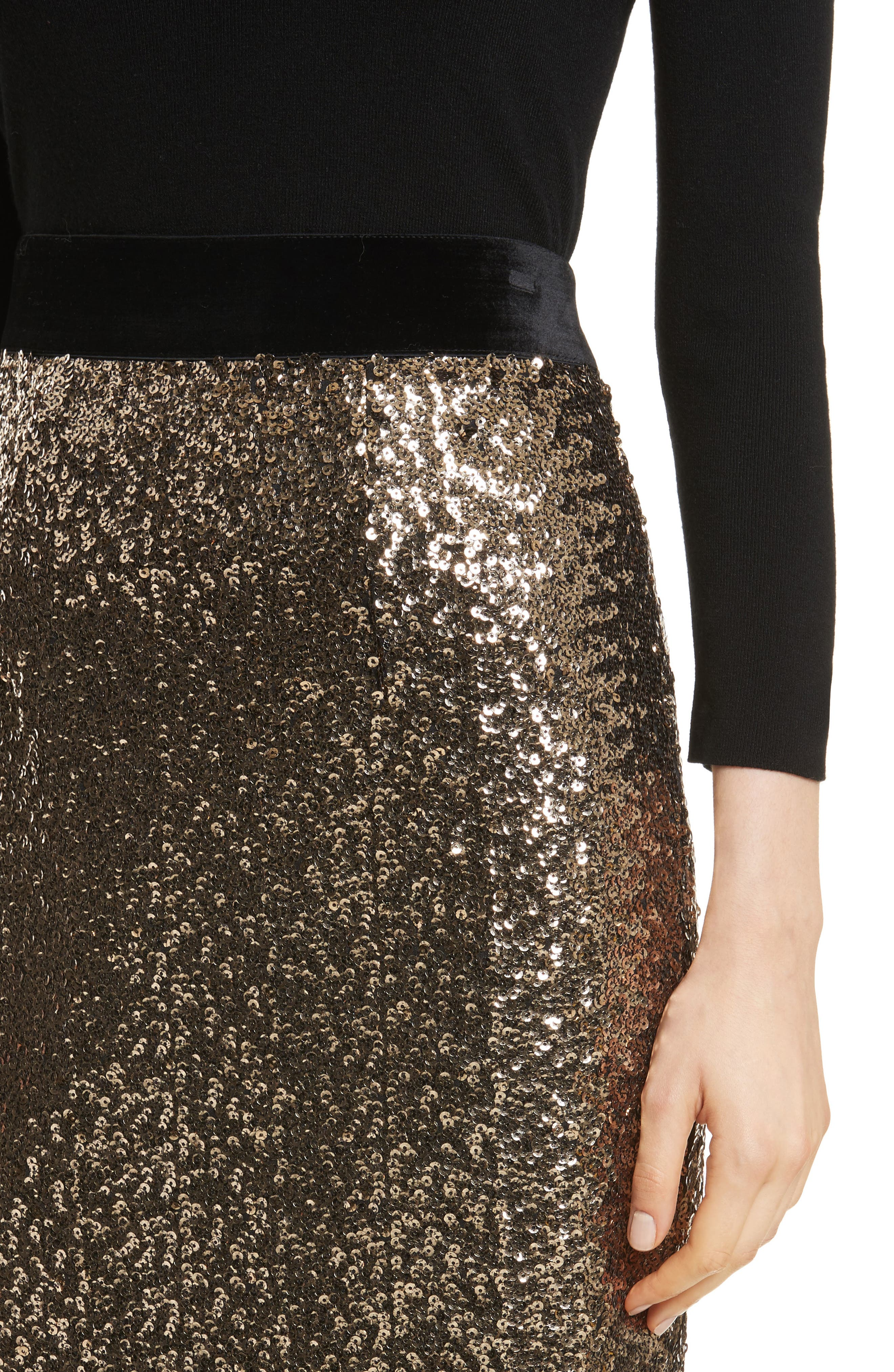 Alternate Image 4  - Milly Classic Sequin Pencil Skirt