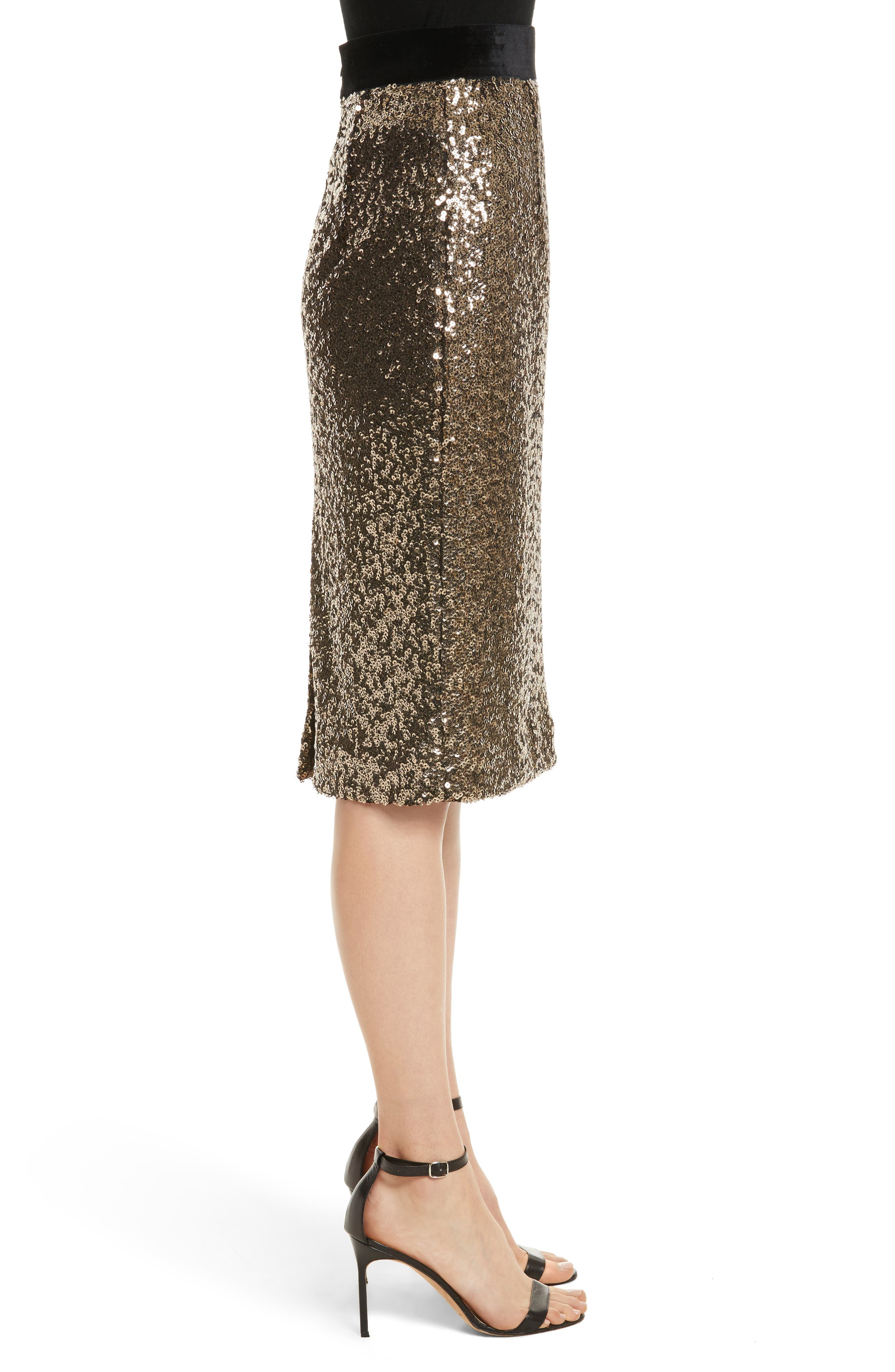 Alternate Image 3  - Milly Classic Sequin Pencil Skirt