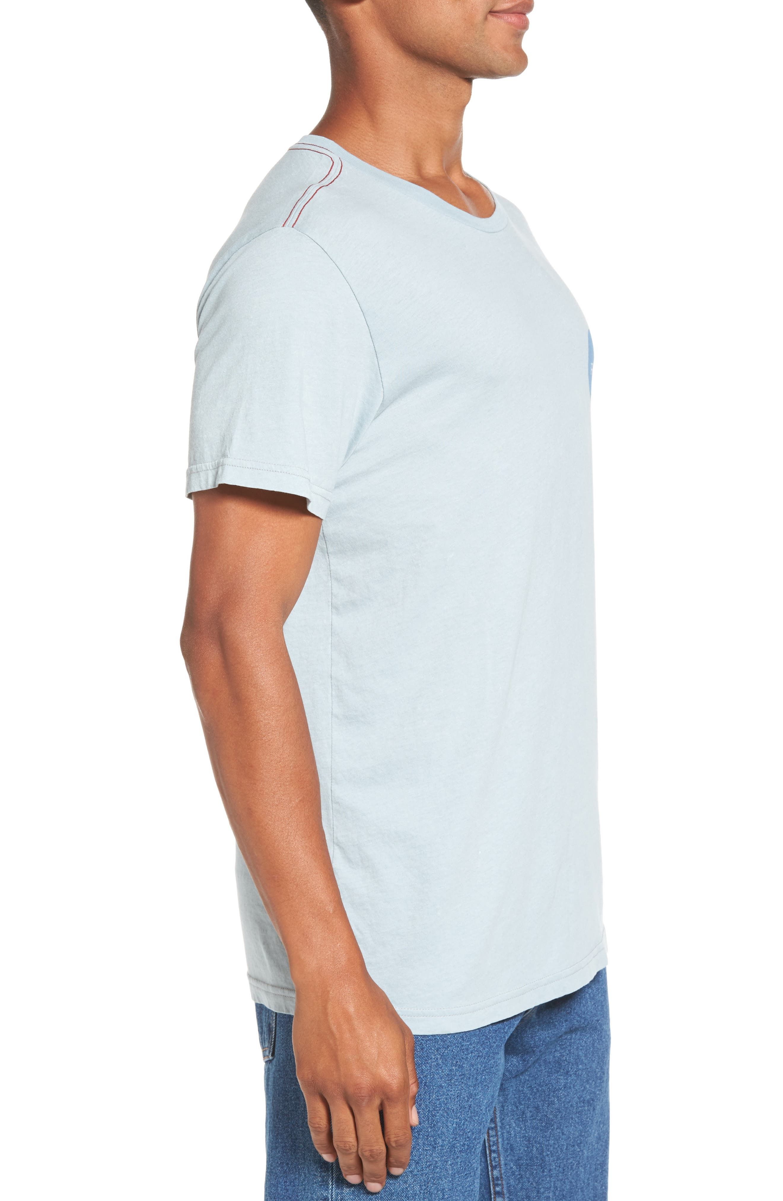 Motors Logo Graphic T-Shirt,                             Alternate thumbnail 3, color,                             Arona Blue