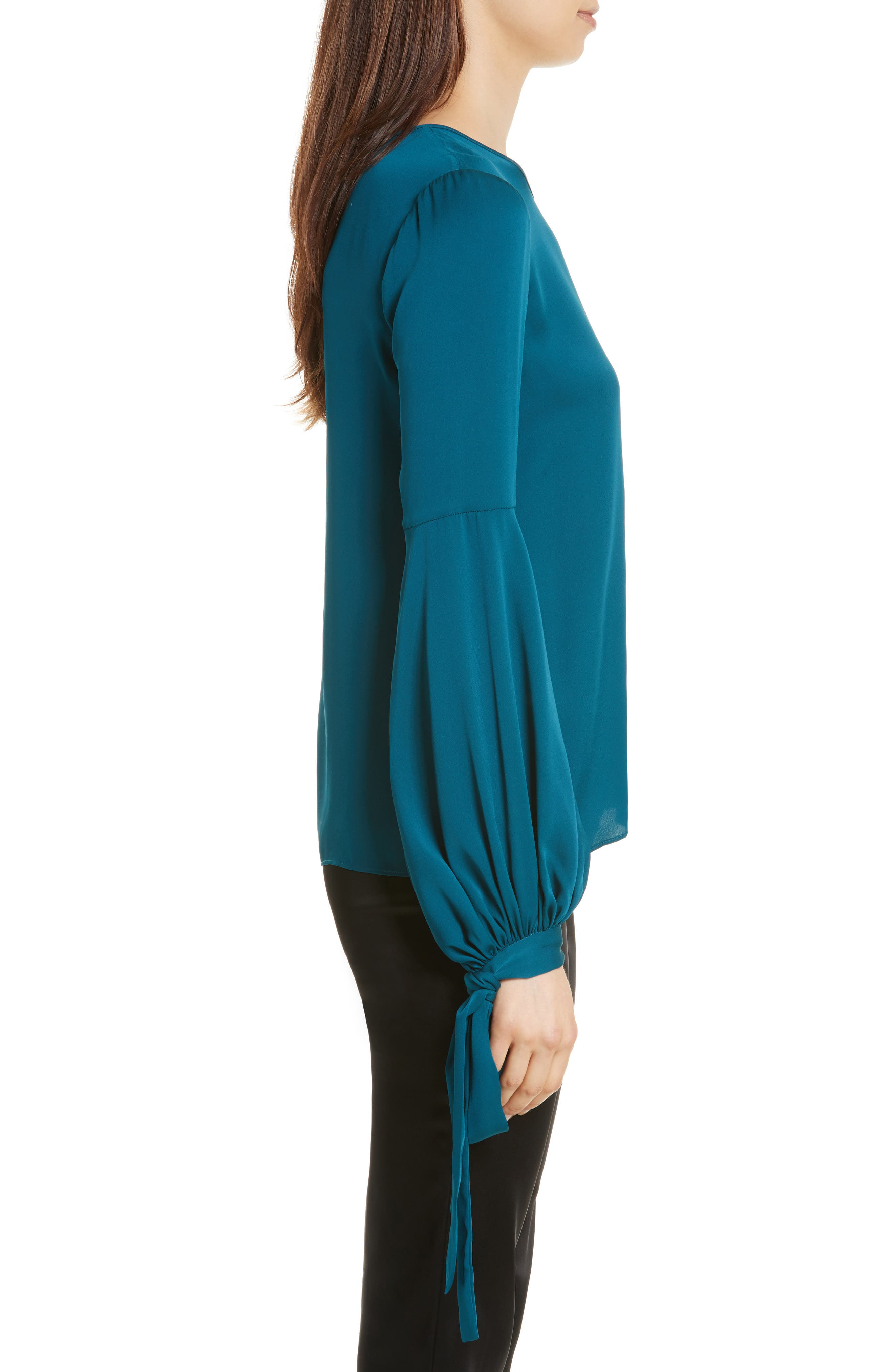 Alternate Image 3  - Milly Juliette Stretch Silk Blouse