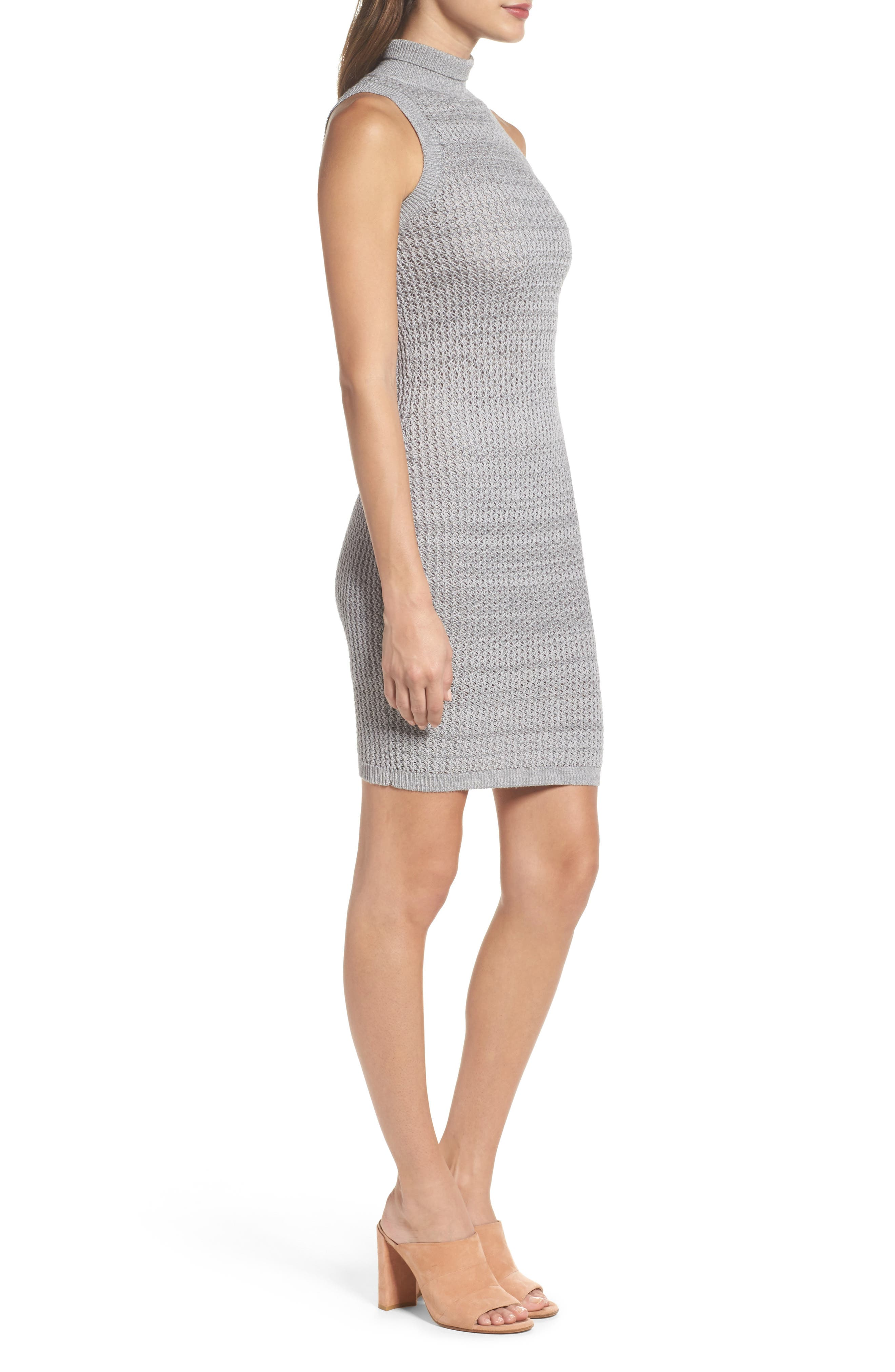 We Shall Overcome Body-Con Dress,                             Alternate thumbnail 4, color,                             Grey