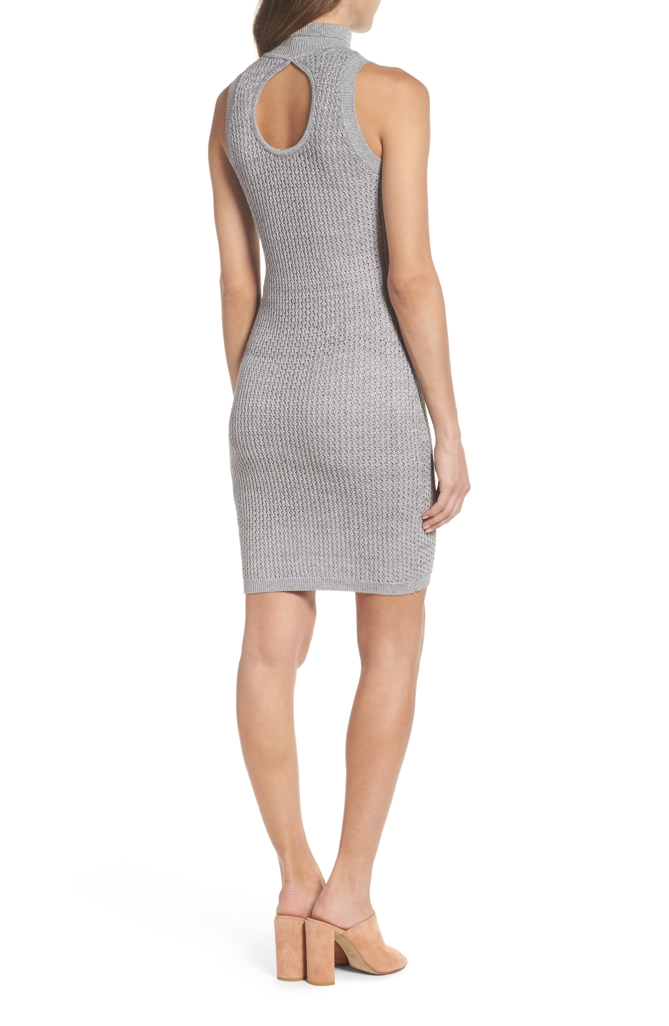 We Shall Overcome Body-Con Dress,                             Alternate thumbnail 3, color,                             Grey