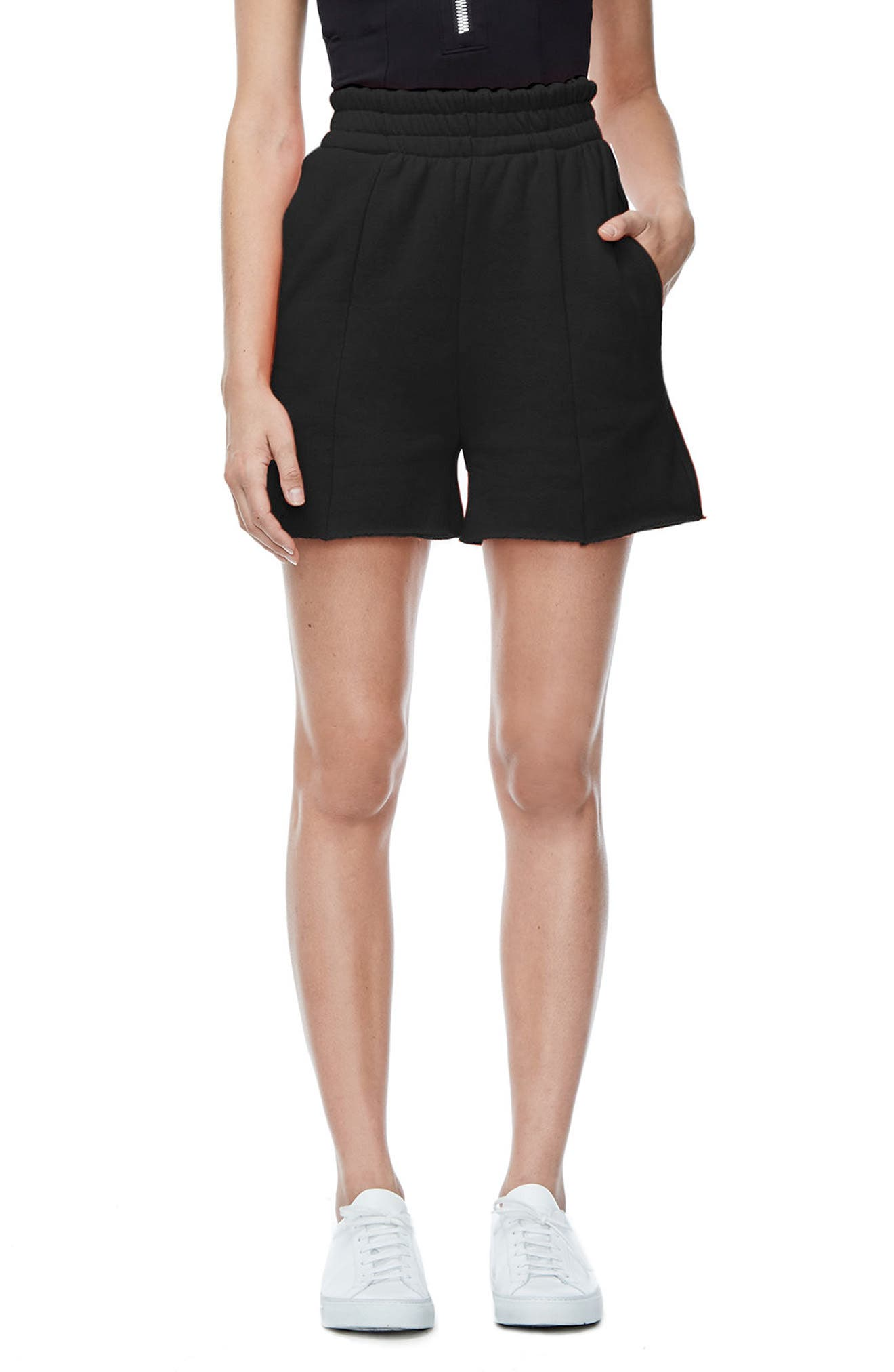 Good American Good Sweats The High Waist Shorts (Extended Sizes)