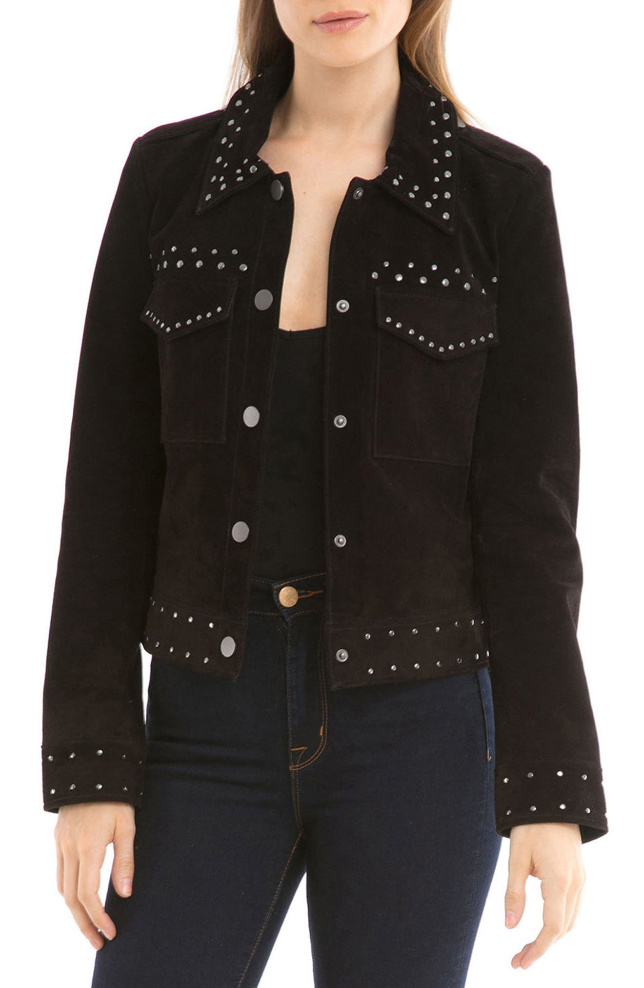 Bagatelle Studded Suede Jacket