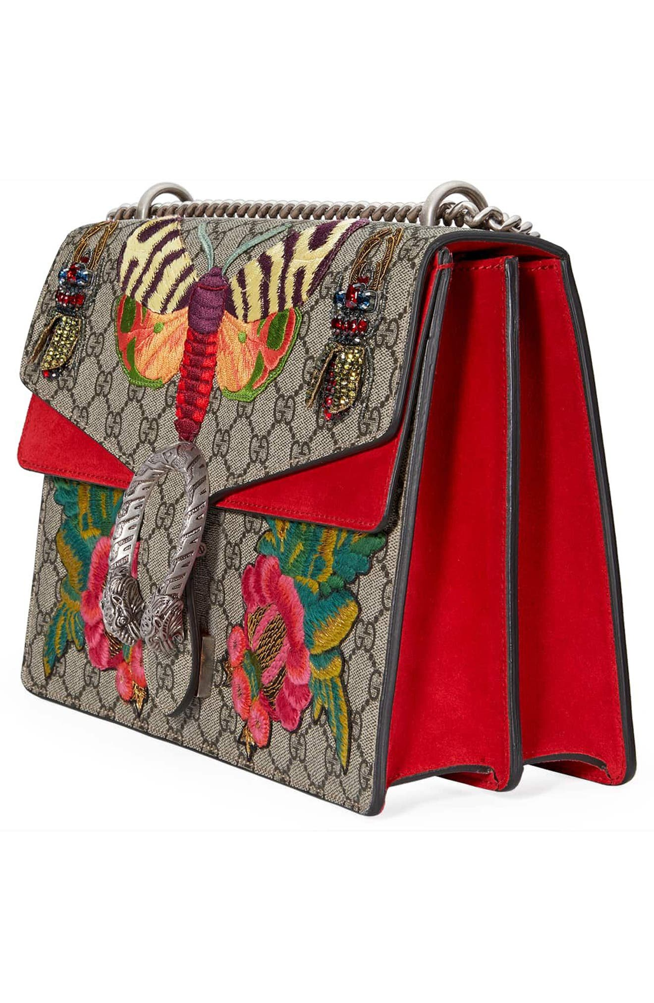 Alternate Image 4  - Gucci Medium Dionysus Embroidered GG Supreme Canvas & Suede Shoulder Bag
