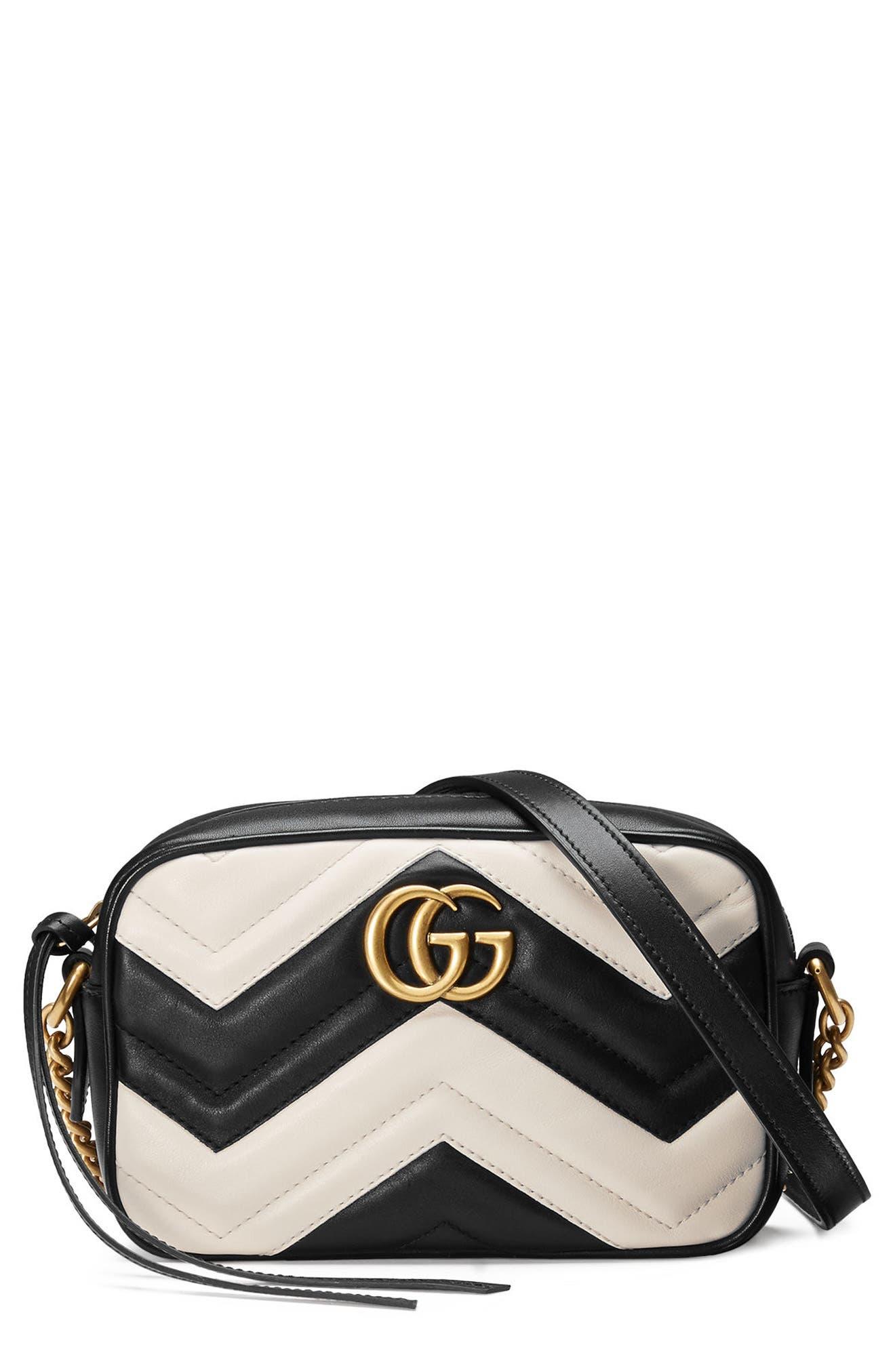 Gucci Mini GG Marmont Matelassé Leather Shoulder Bag