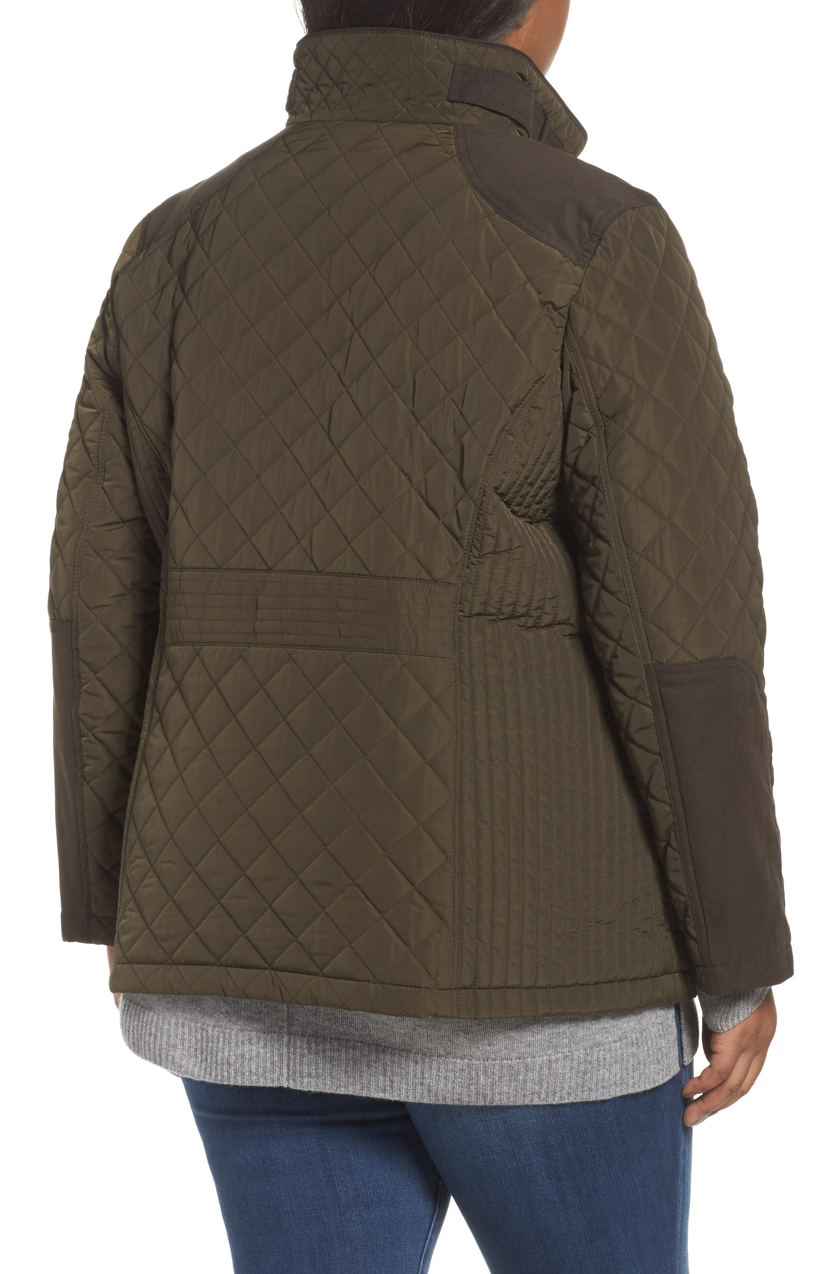 Alternate Image 2  - Gallery Insulated Jacket (Plus Size)