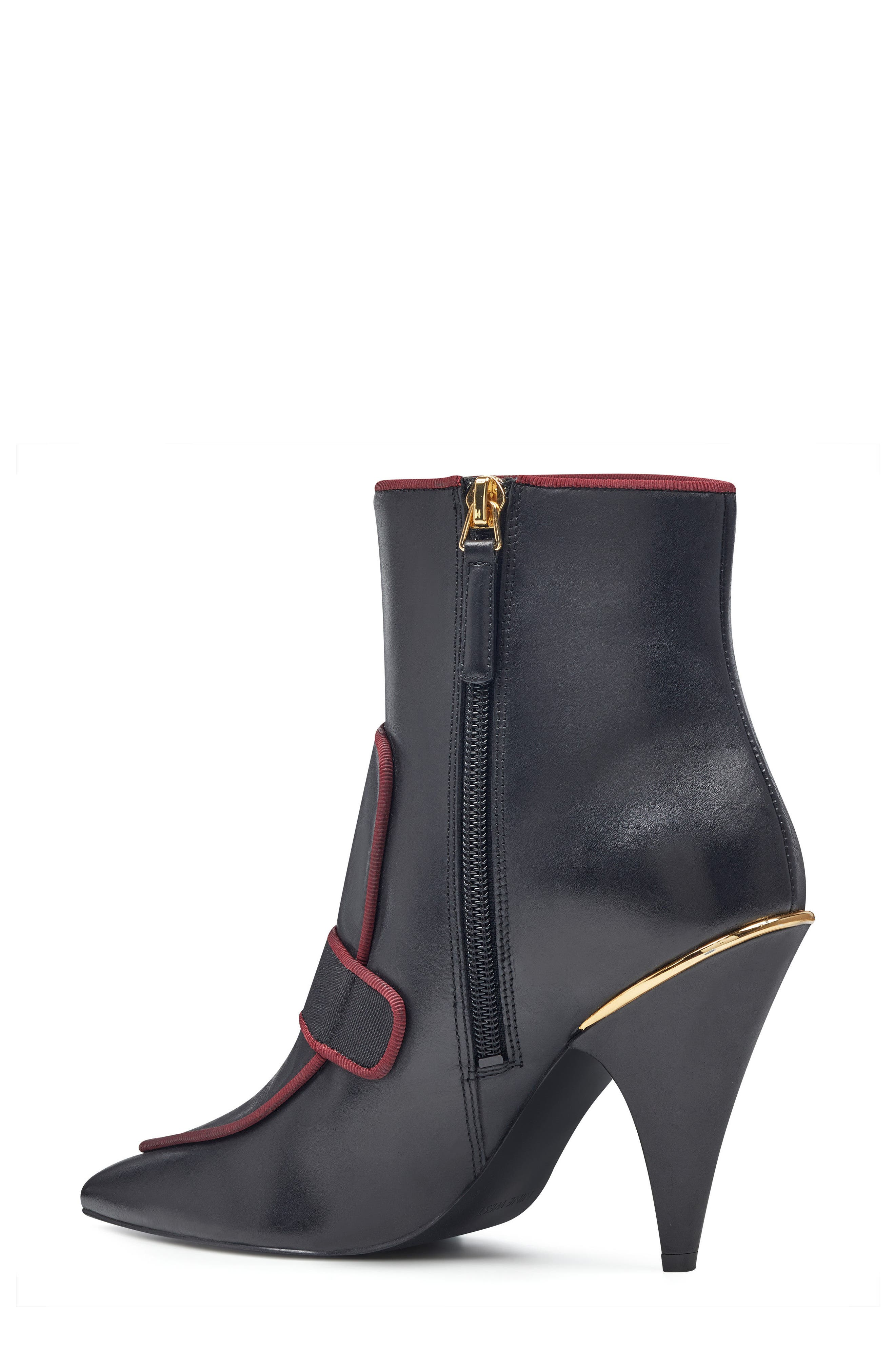 Westham Pointy Toe Bootie,                             Alternate thumbnail 2, color,                             Black/ Wine Leather