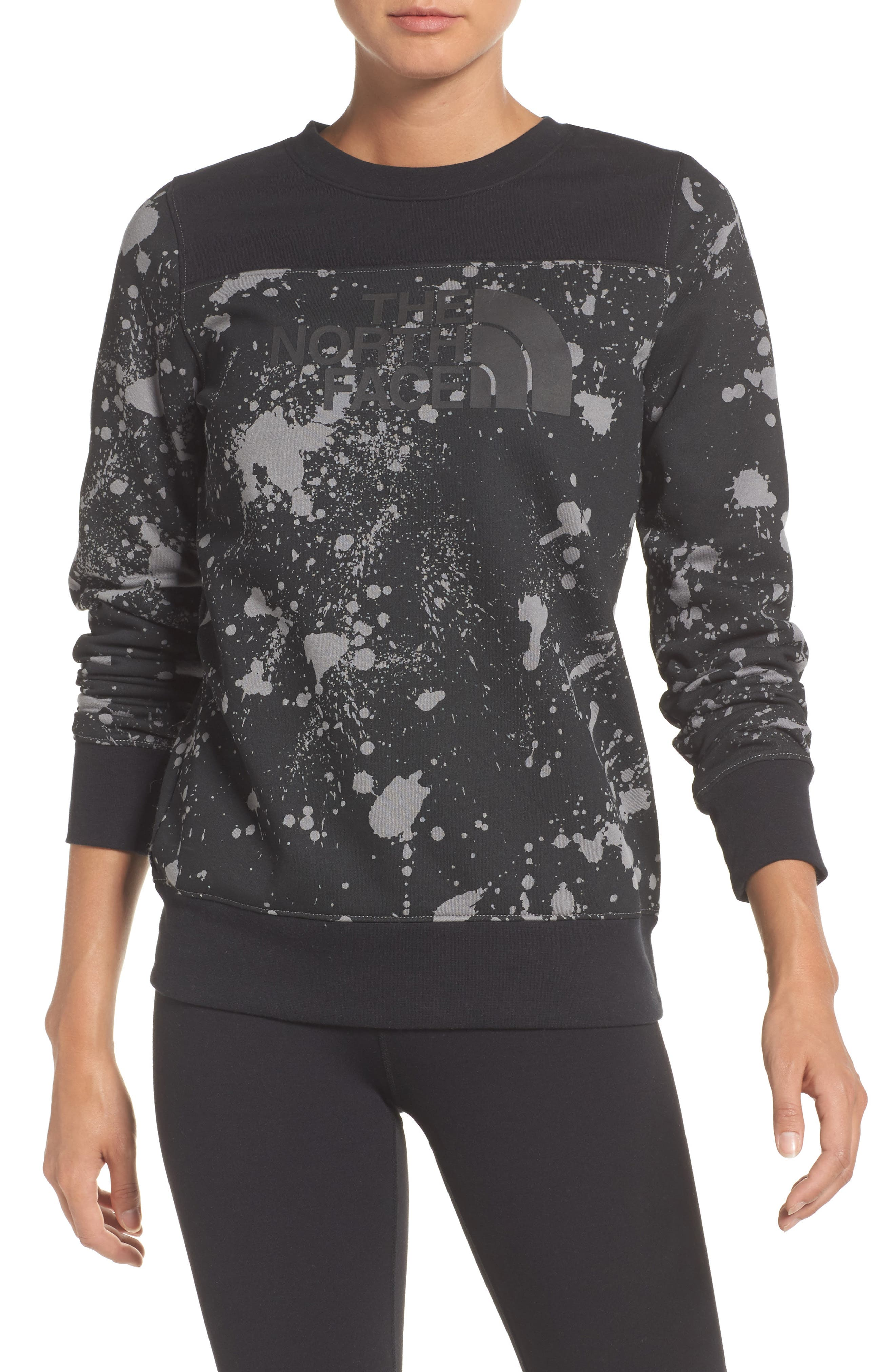 Half Dome Sweatshirt,                         Main,                         color, Tnf Black Splatter Print