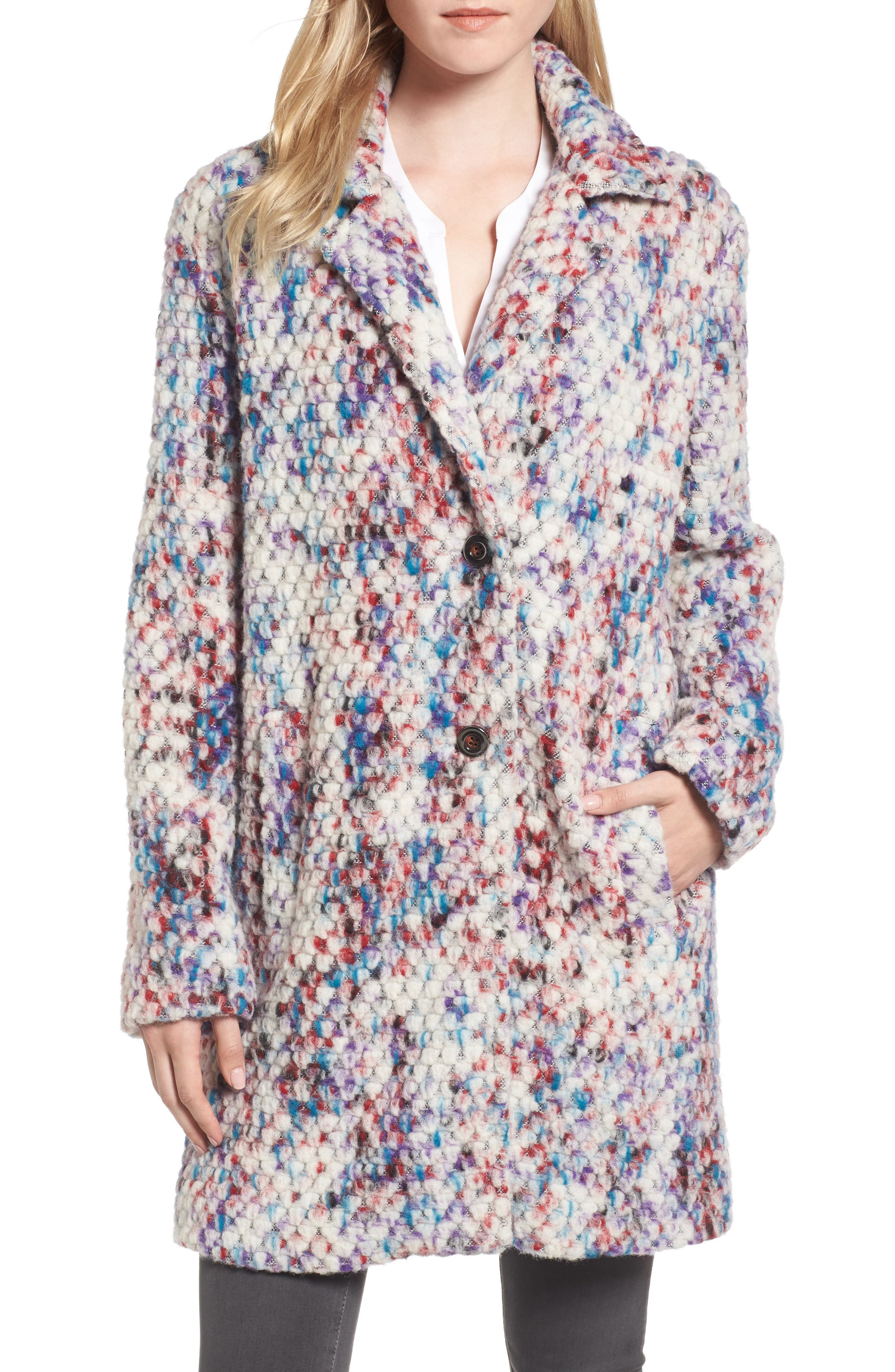 Alternate Image 5  - Steve Madden Confetti Wool Blend Coat