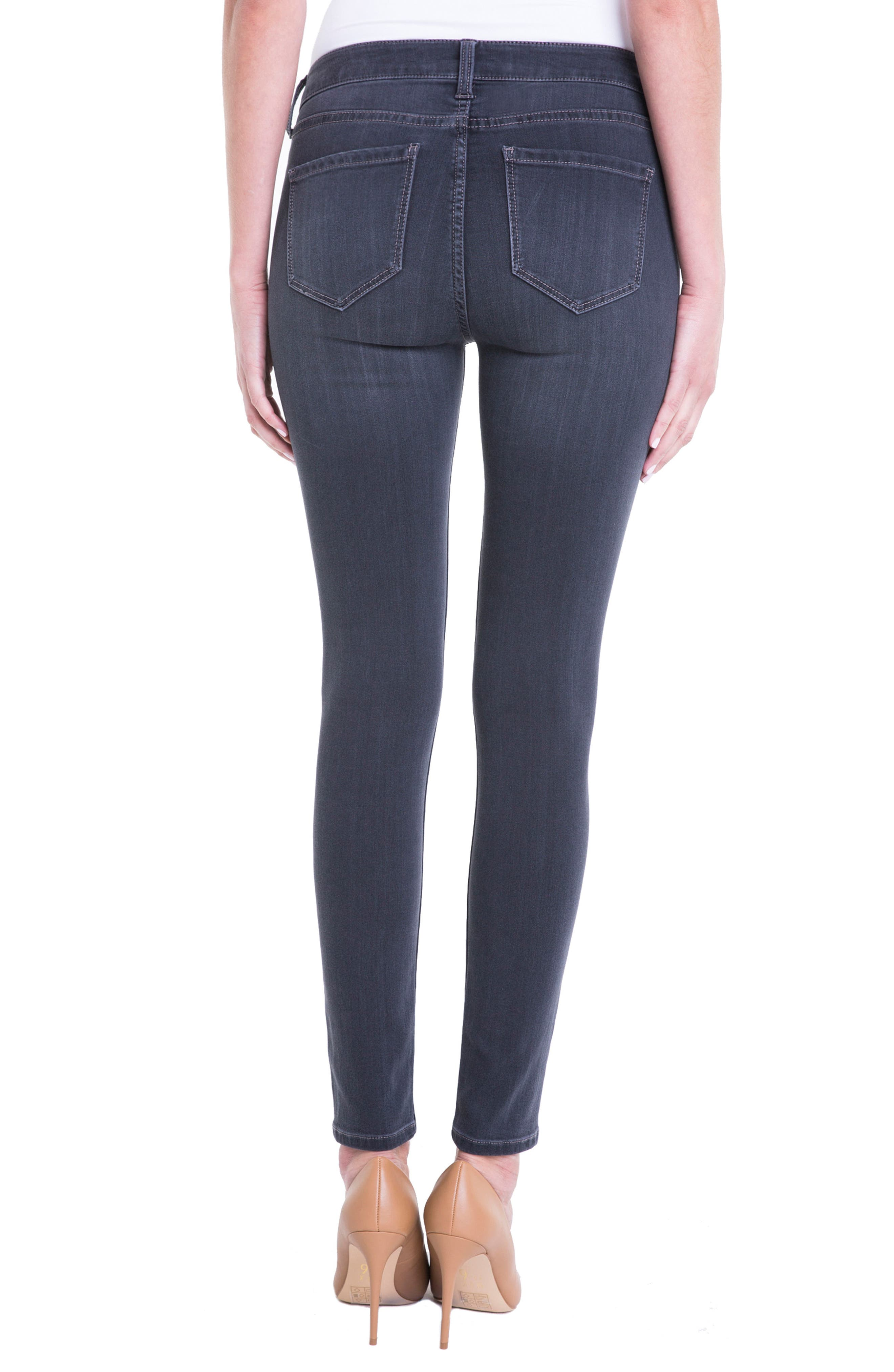 Alternate Image 2  - Liverpool Jeans Company Abby Stretch Skinny Jeans (Meteorite)