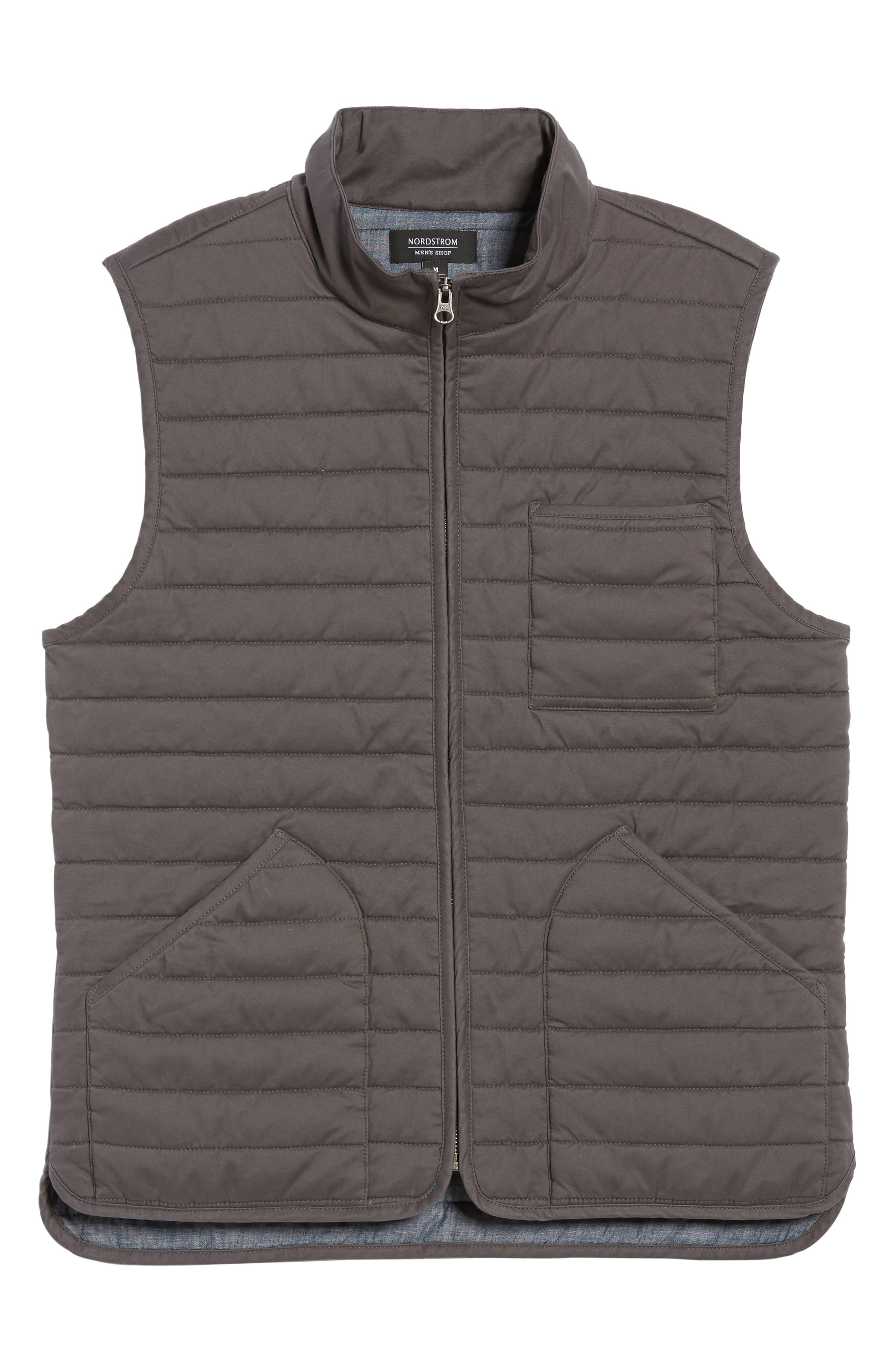 Alternate Image 6  - Nordstrom Men's Shop Quilted Twill Vest (Regular & Tall)