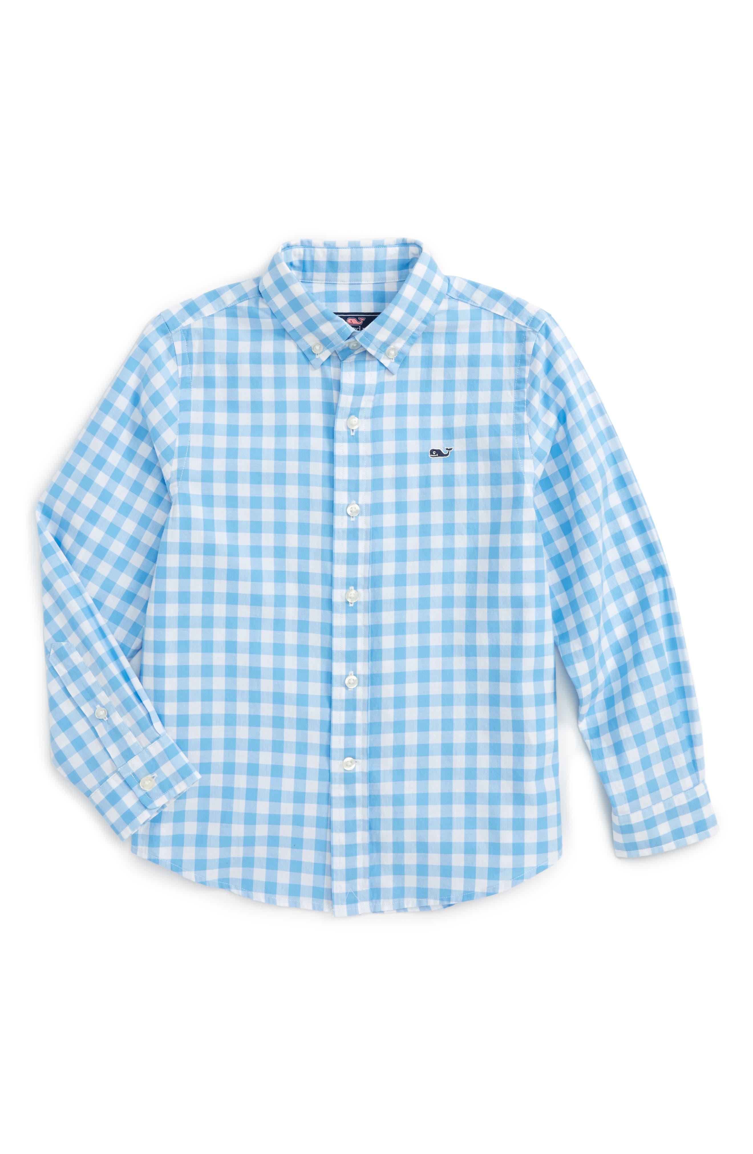 VINEYARD VINES Riverhead Gingham Cotton Shirt