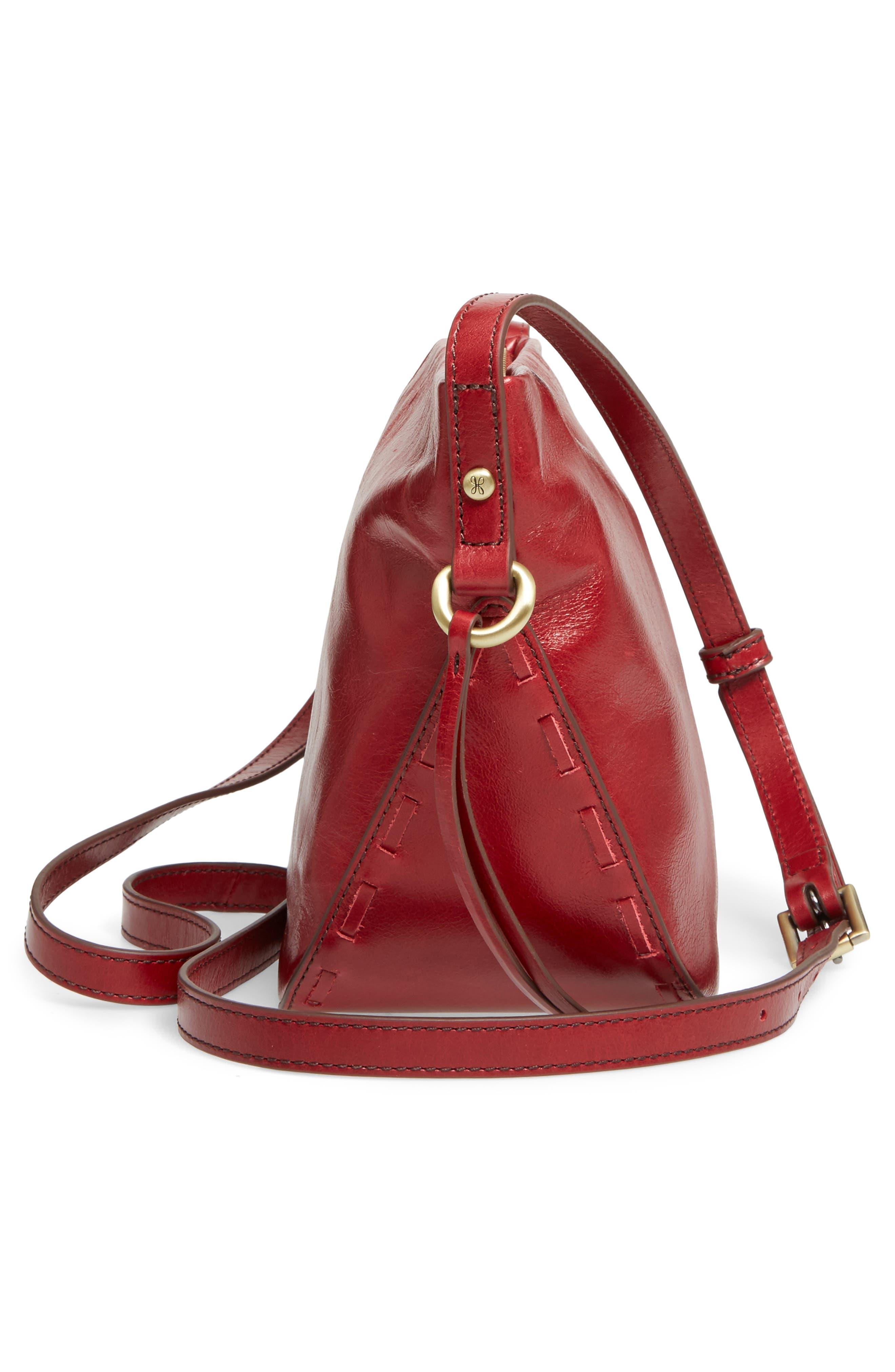 Muse Calfskin Leather Crossbody Bag,                             Alternate thumbnail 5, color,                             Cardinal
