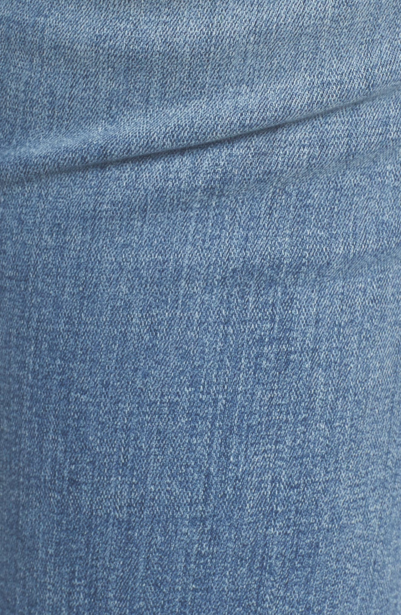 Alternate Image 7  - Good American Good Straight High Rise Jeans (Blue 087) (Regular & Plus Size)