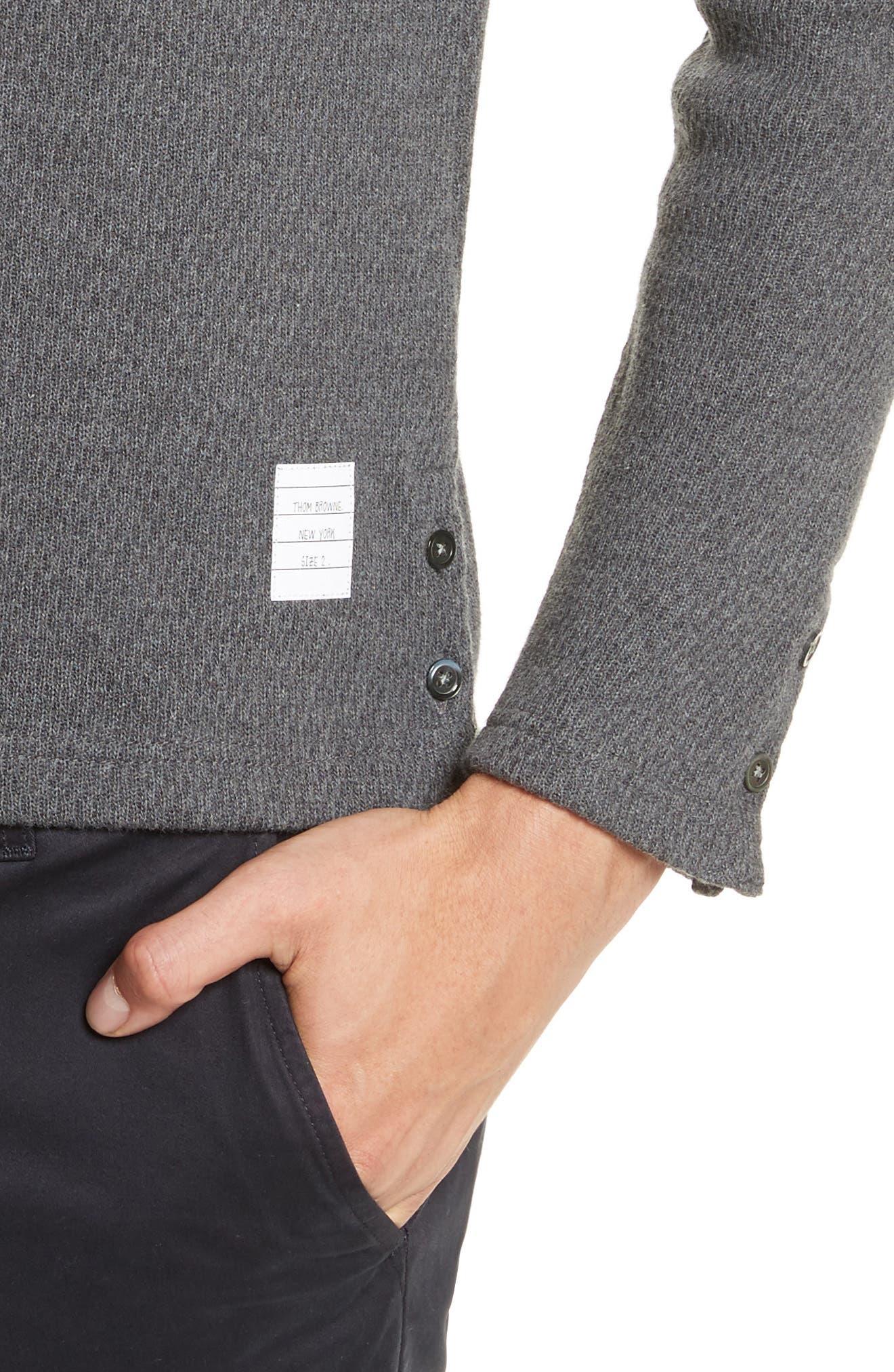 Knit Cotton Henley,                             Alternate thumbnail 4, color,                             Dark Grey