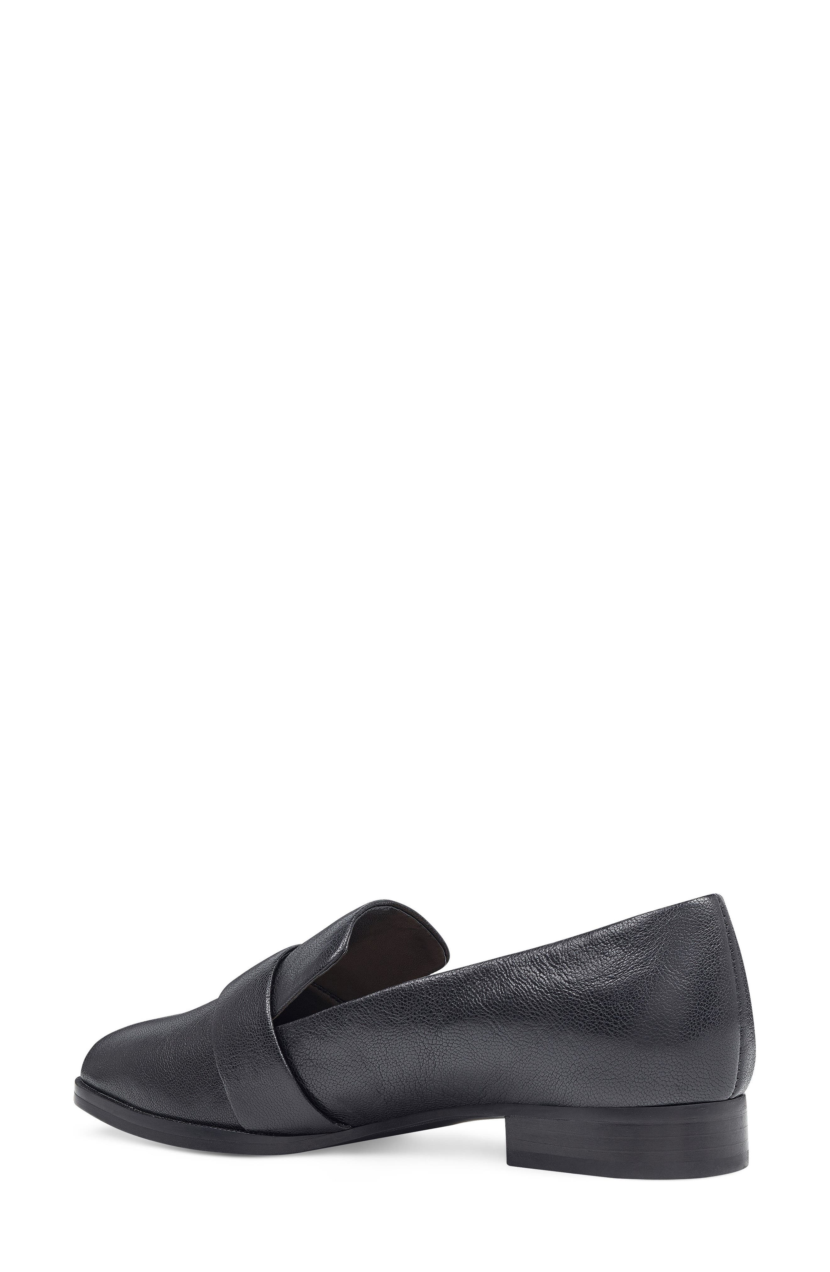 Huff Loafer Flat,                             Alternate thumbnail 2, color,                             Black Leather
