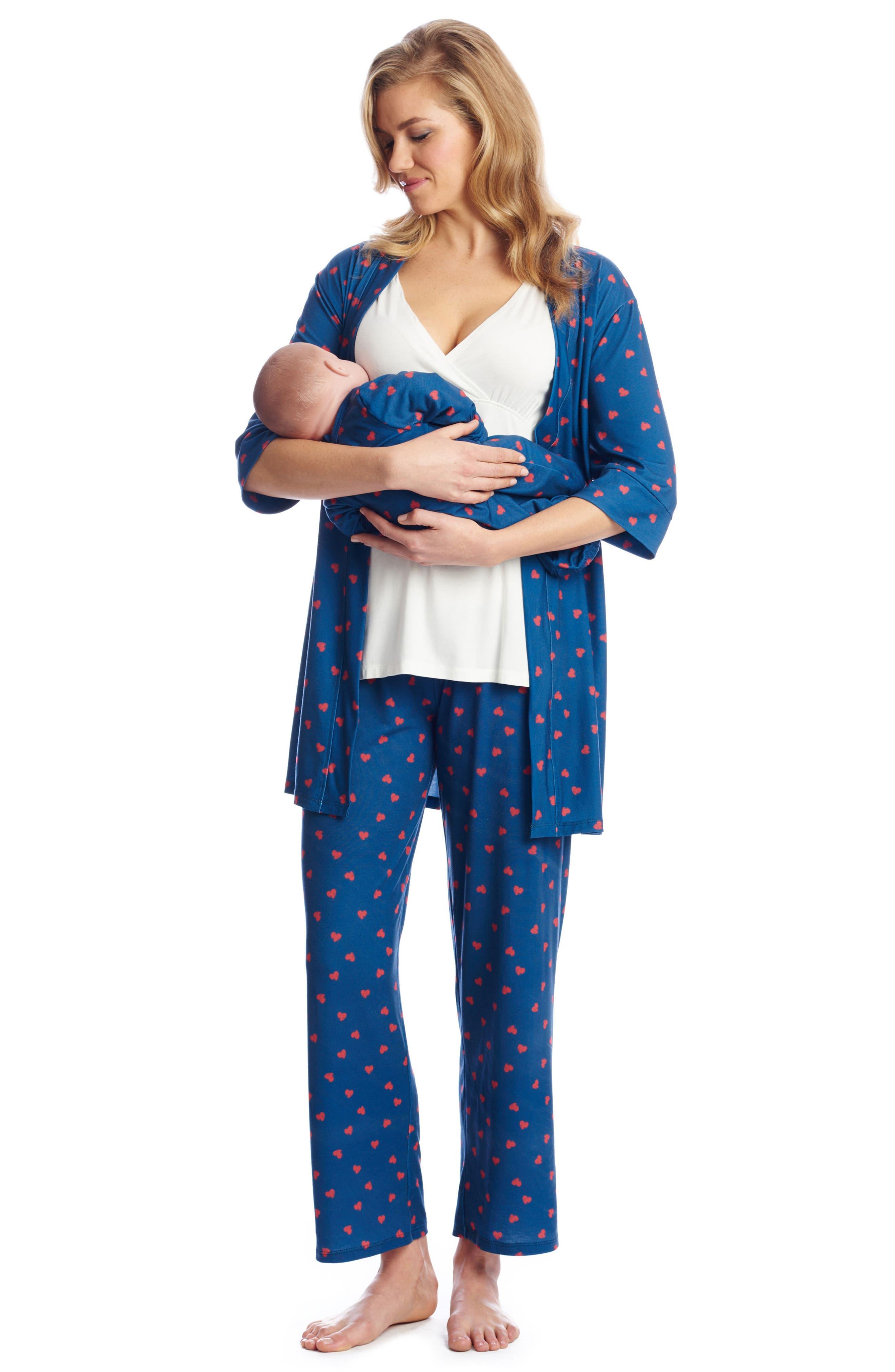 Alternate Image 2  - Everly Grey Roxanne - During & After 5-Piece Maternity Sleepwear Set