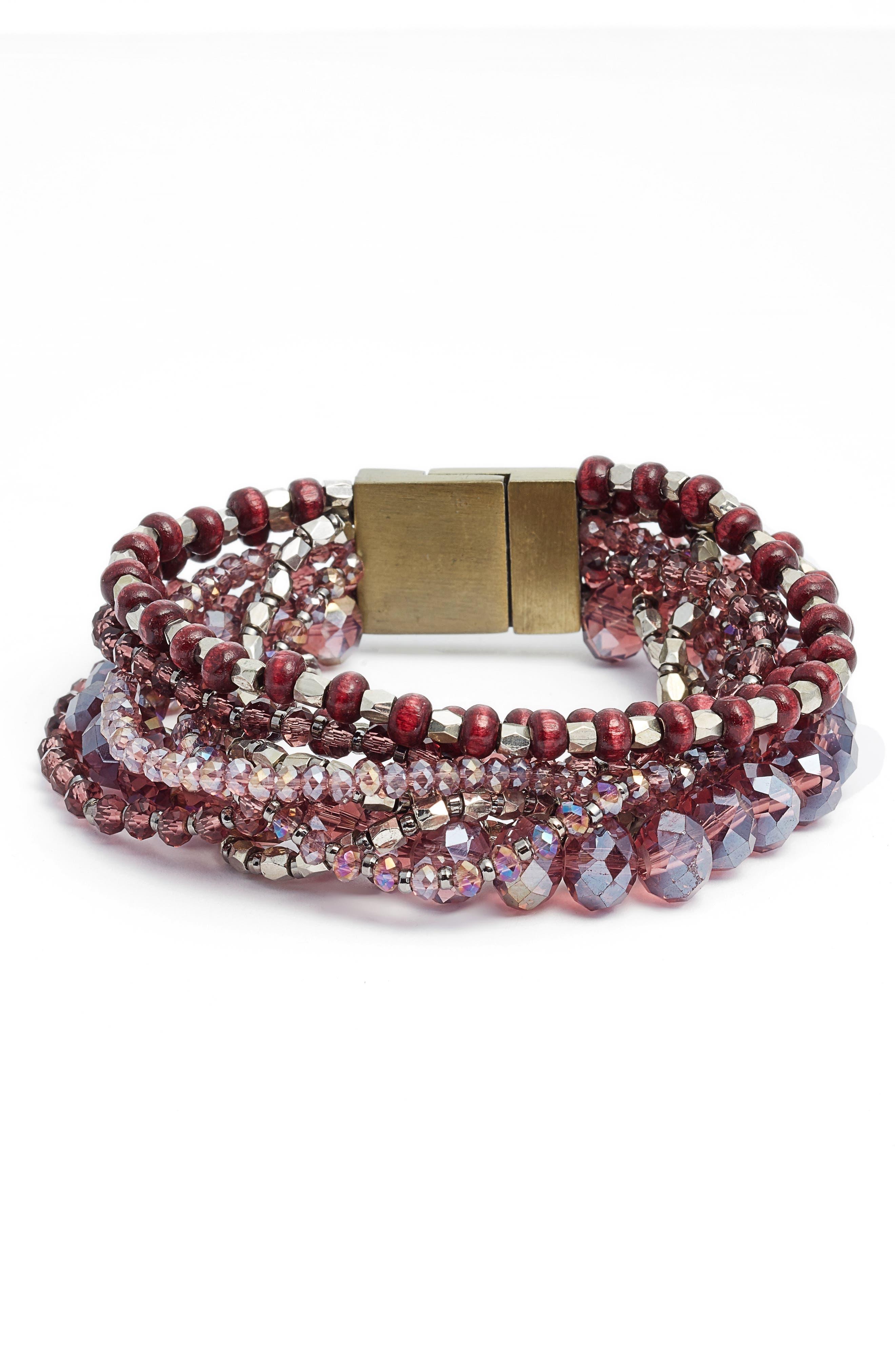 Beaded Bracelet,                         Main,                         color, Amethyst