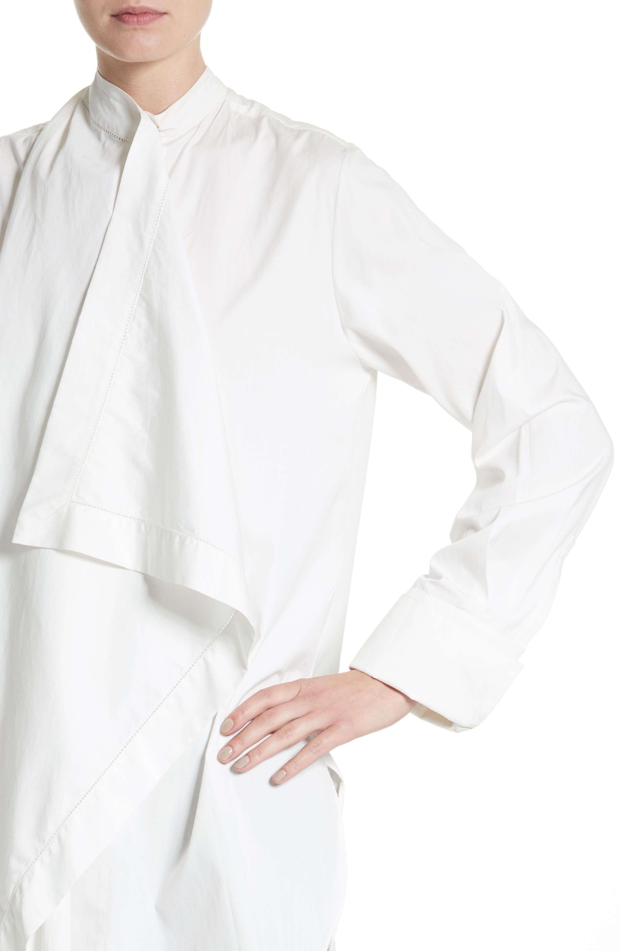 Alternate Image 4  - Roksanda Akano Drape Front Twill Top