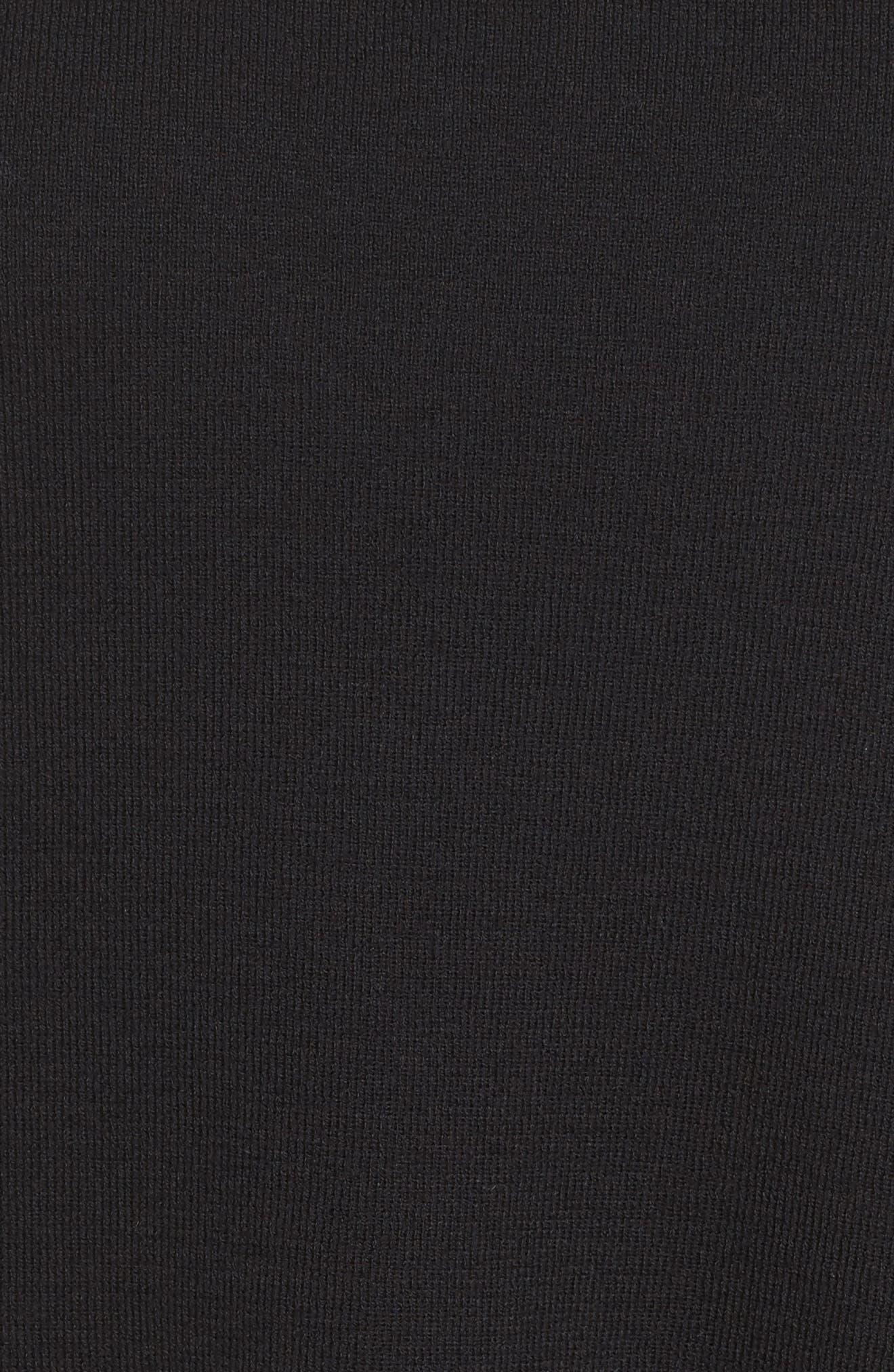 Wool Knit Tunic,                             Alternate thumbnail 5, color,                             Black